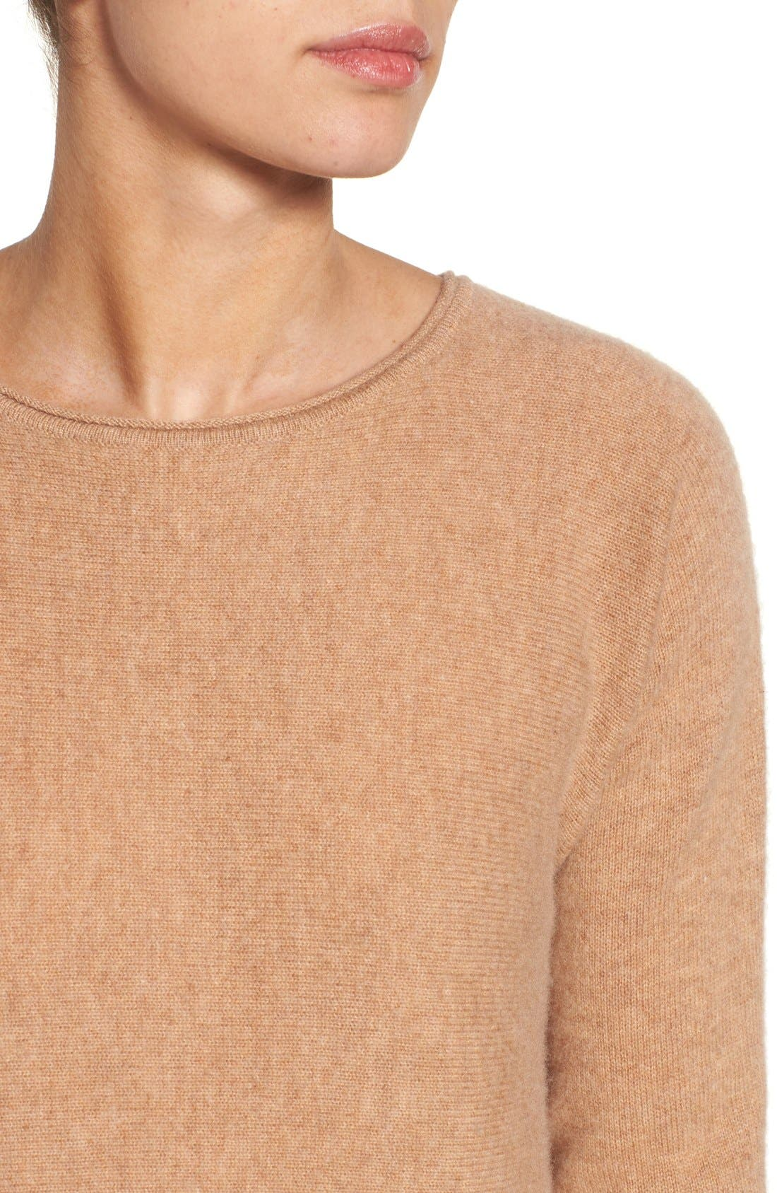High/Low Wool & Cashmere Tunic Sweater,                             Alternate thumbnail 116, color,
