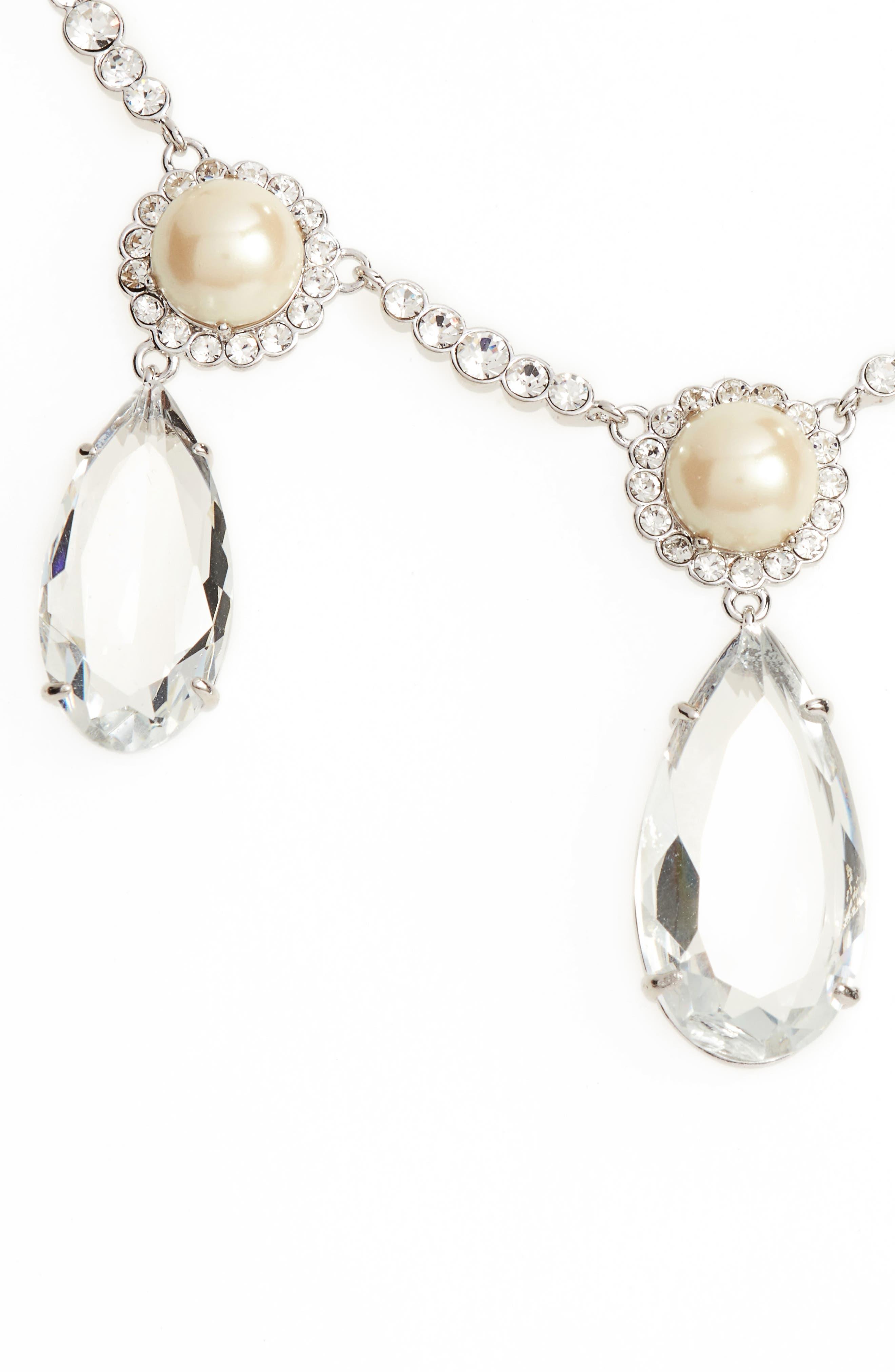 glitz and glam imitation pearl necklace,                             Main thumbnail 1, color,                             040