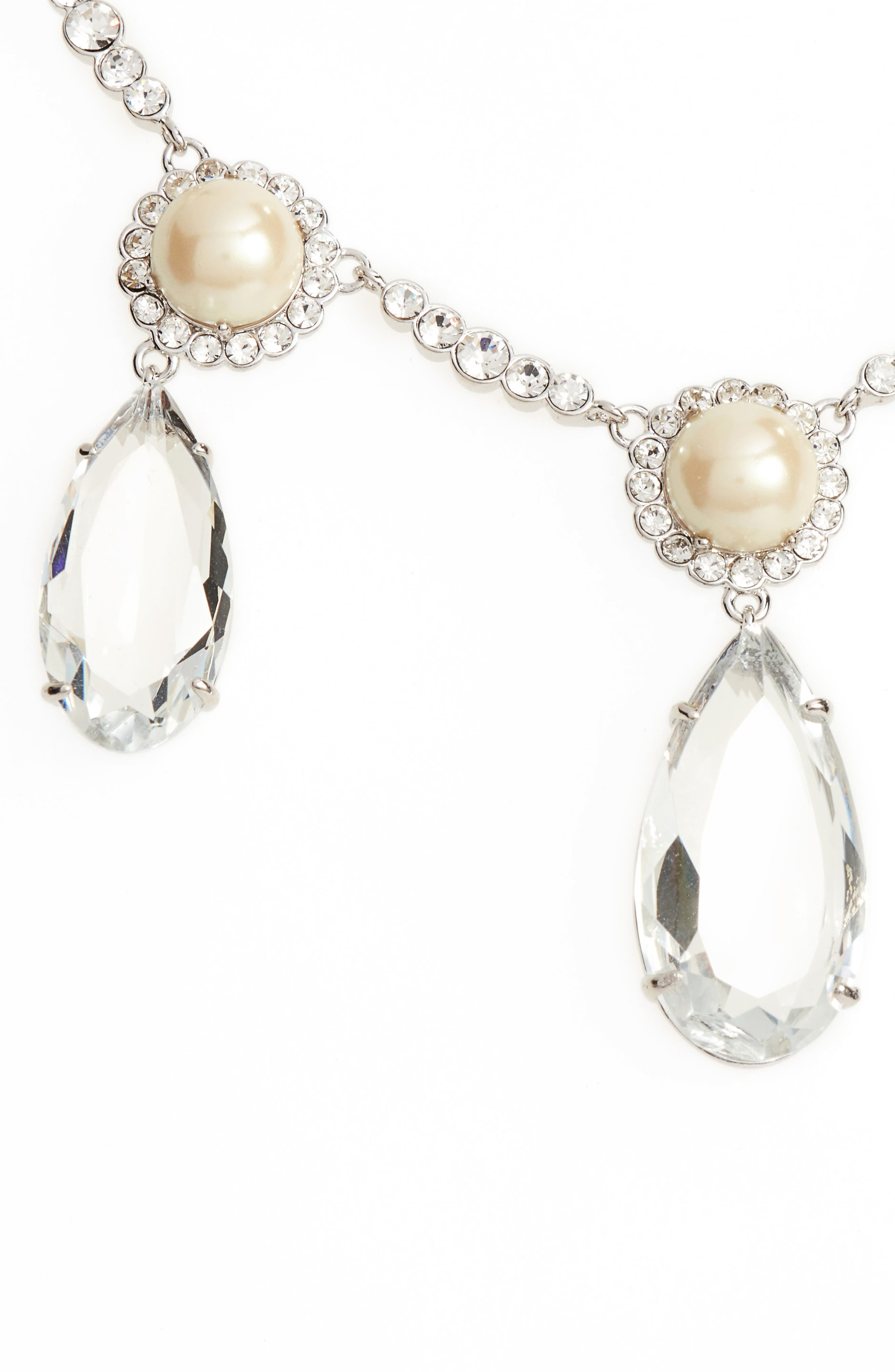 glitz and glam imitation pearl necklace,                         Main,                         color, 040
