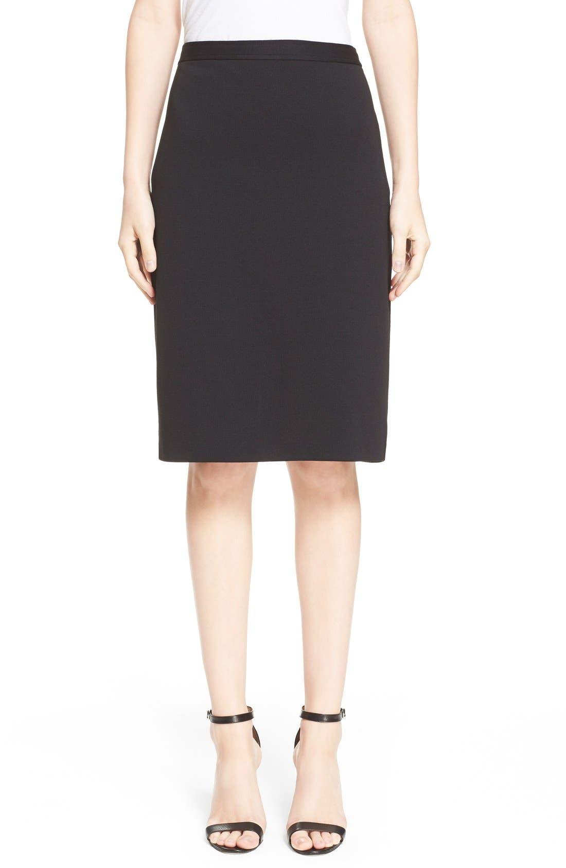 Milano Knit Pencil Skirt,                             Main thumbnail 1, color,                             CAVIAR