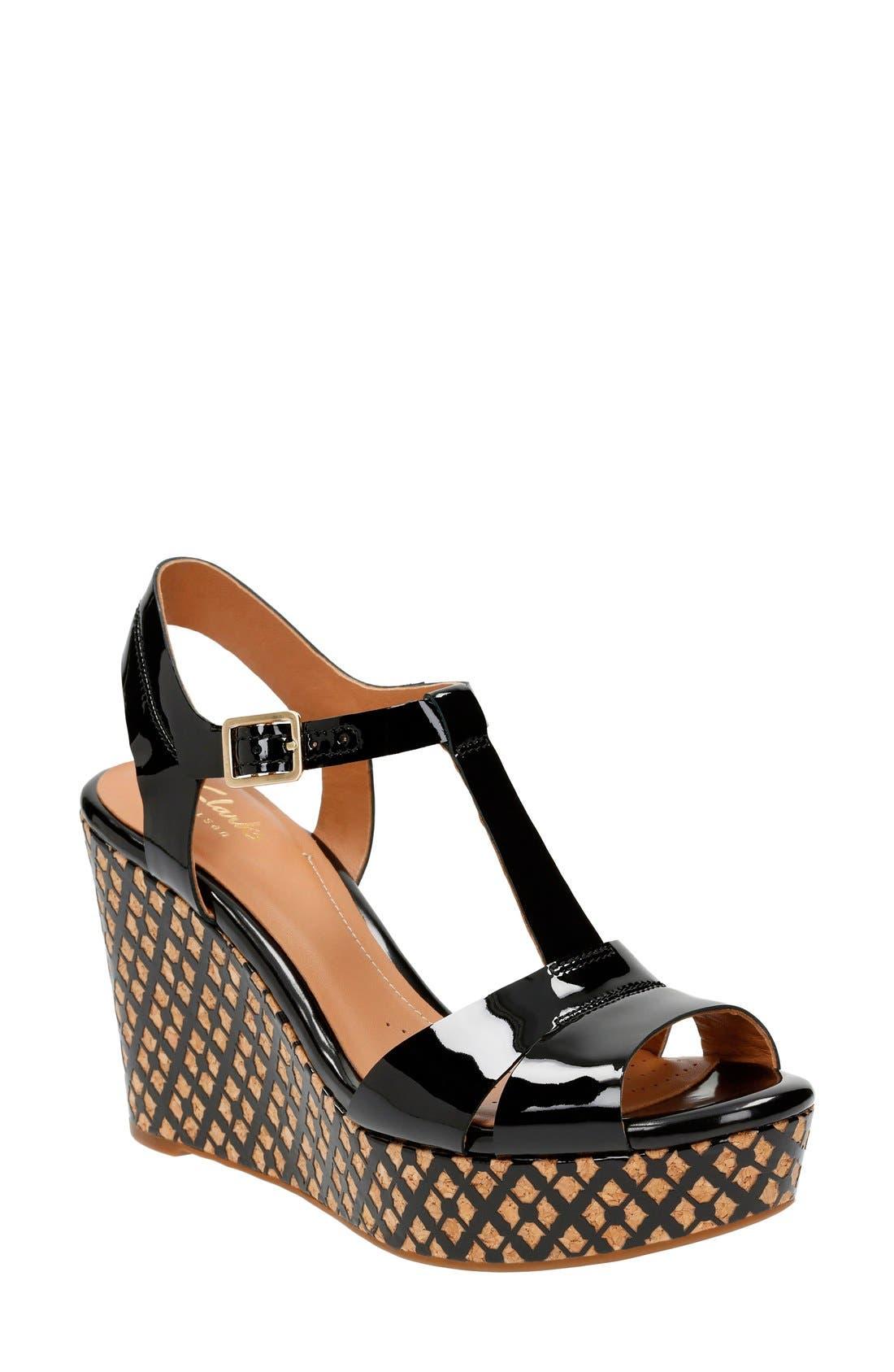 'Amelia Roma' Wedge Sandal,                             Main thumbnail 1, color,                             017