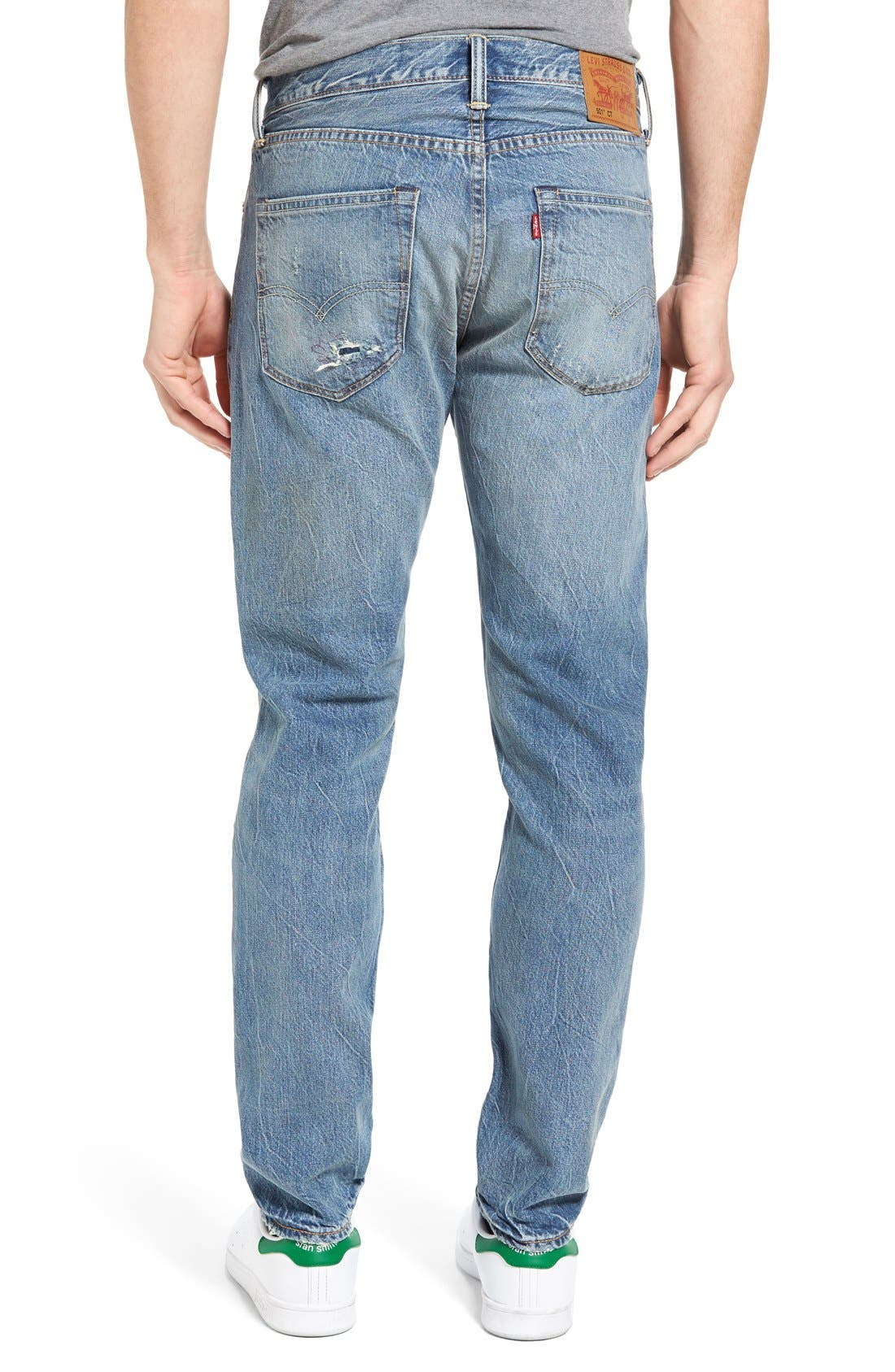 501<sup>™</sup> CT Custom Tapered Fit Jeans,                             Alternate thumbnail 3, color,                             420