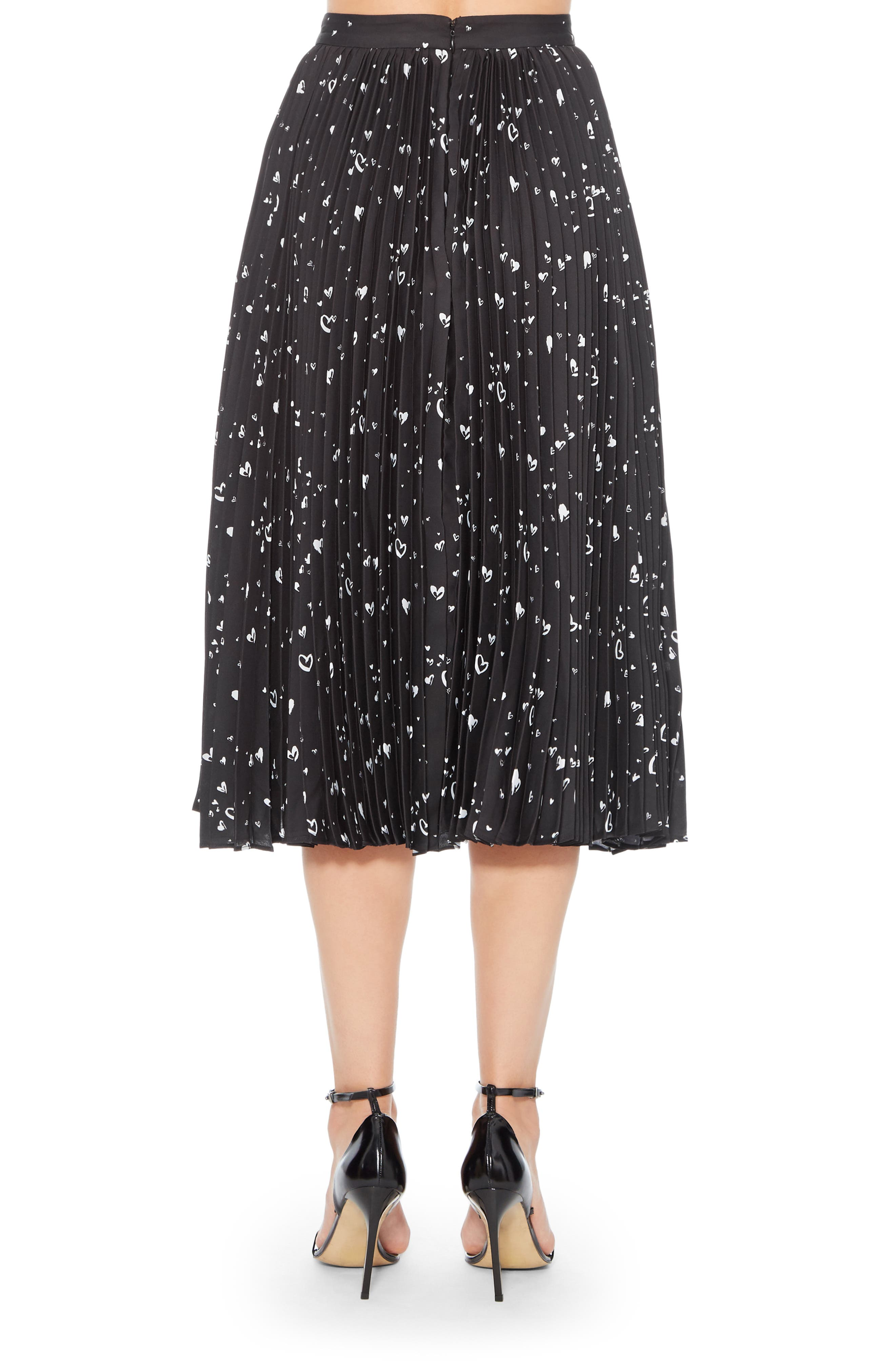 Jacinta Pleated Midi Skirt,                             Alternate thumbnail 2, color,                             LOVE LANE