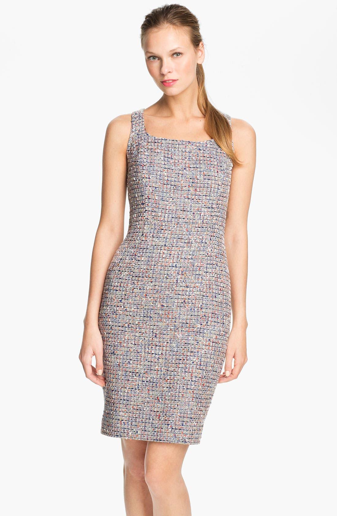 'Emma' Tweed Sheath Dress,                             Main thumbnail 1, color,                             486