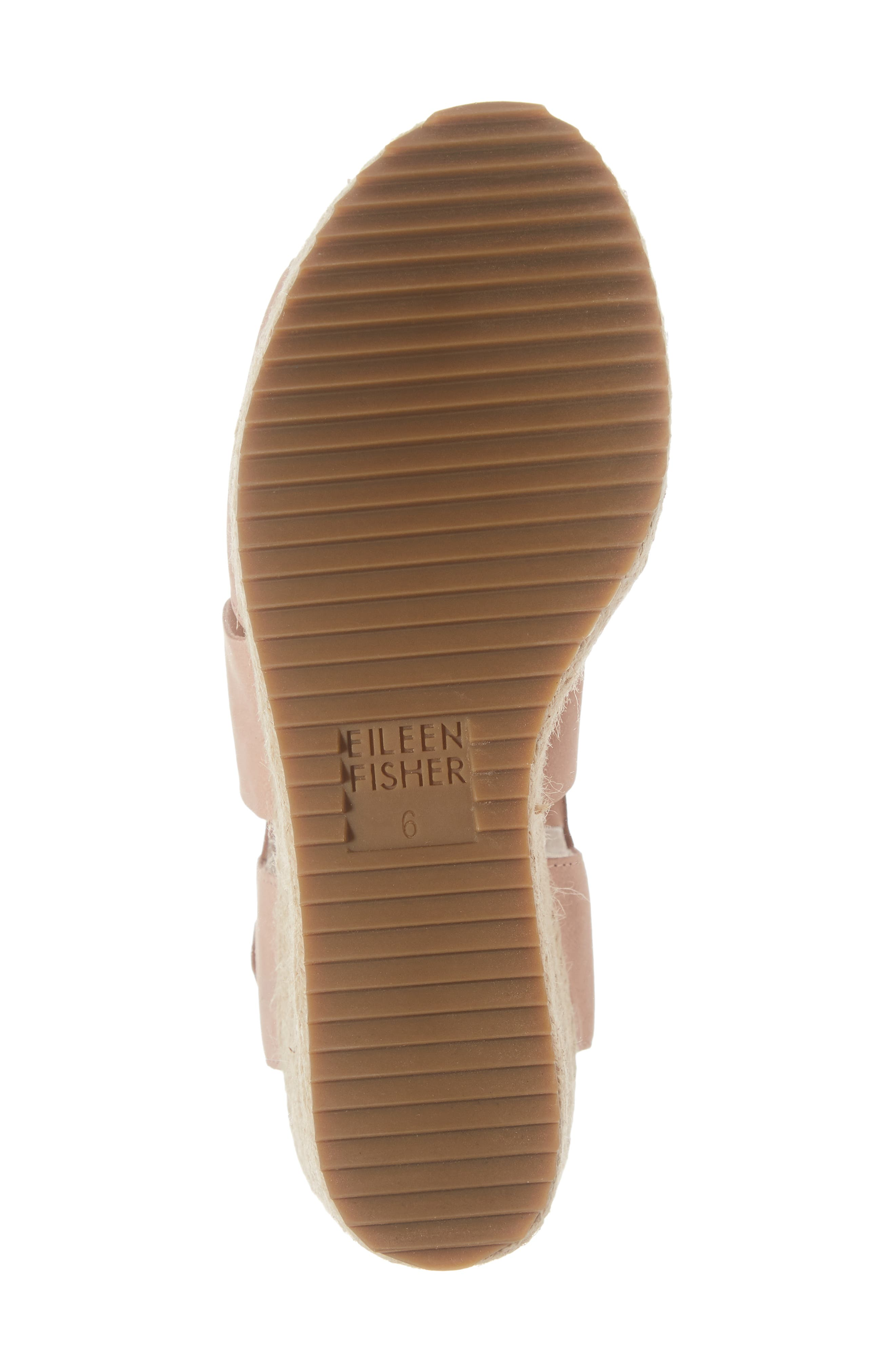 'Willow' Espadrille Wedge Sandal,                             Alternate thumbnail 6, color,                             TOFFEE CREAM NUBUCK