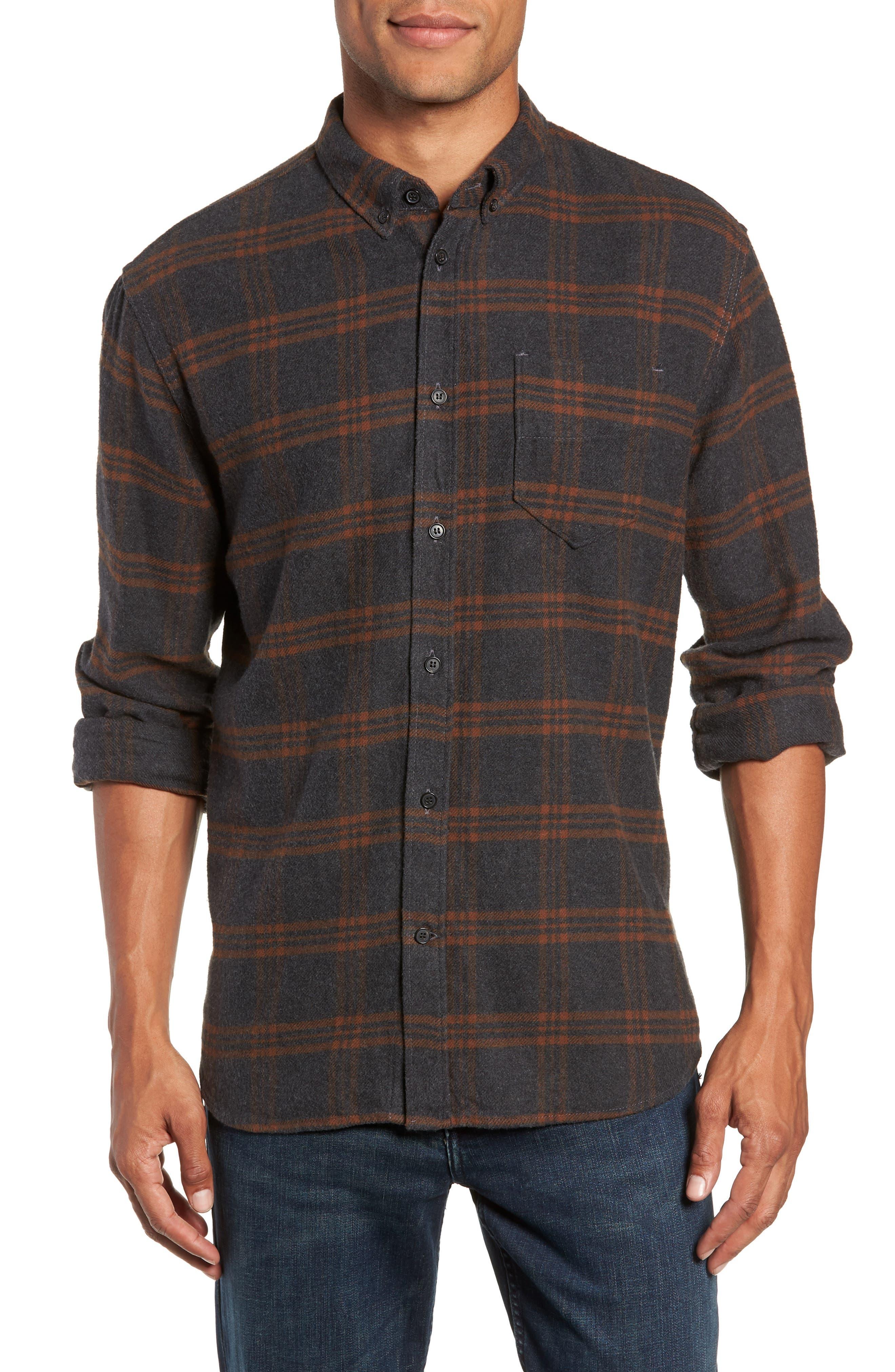BILLY REID Plaid Cotton Flannel Shirt, Main, color, 020