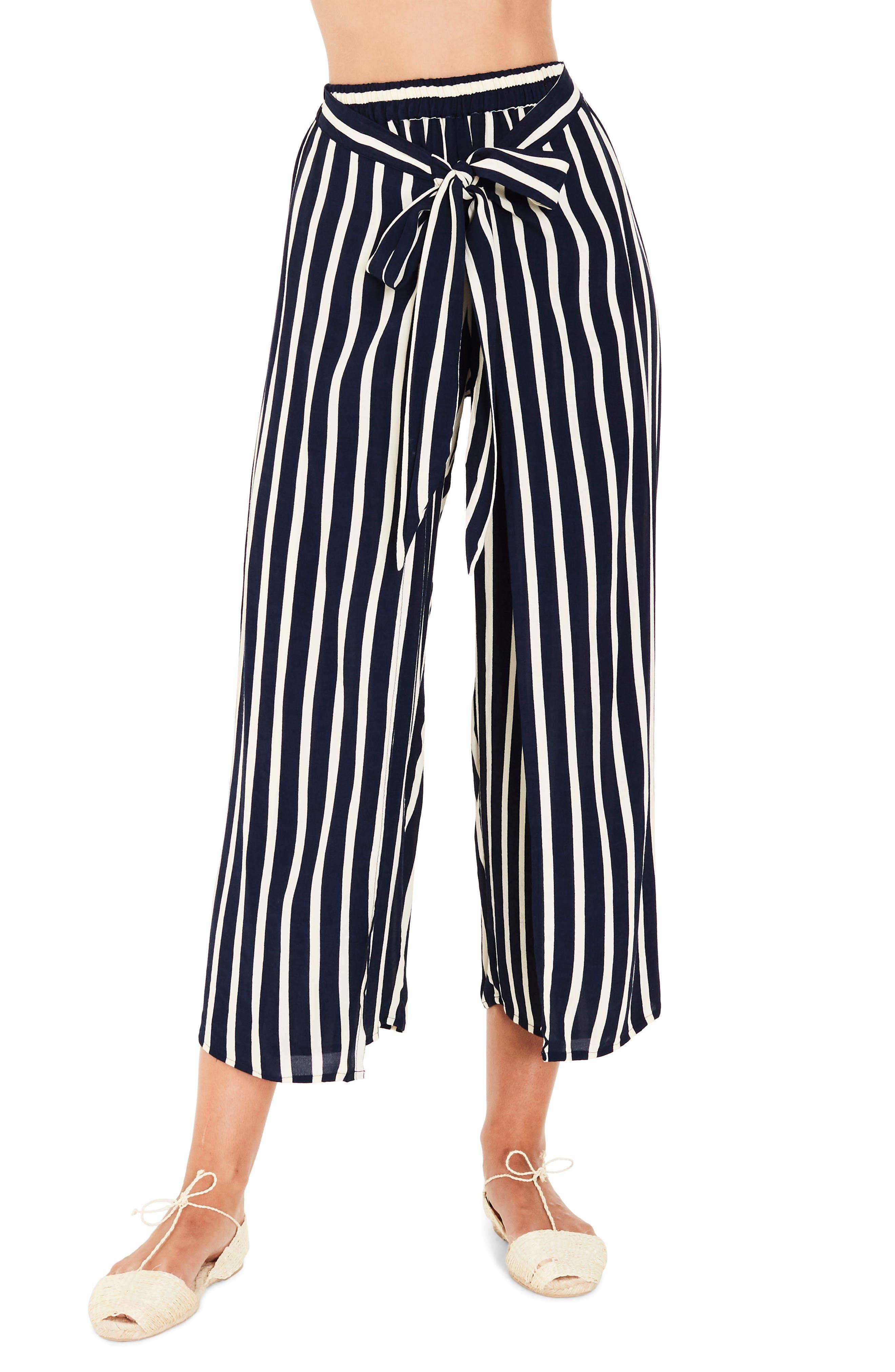 Sand Island Stripe Tulip Pants,                         Main,                         color, 400
