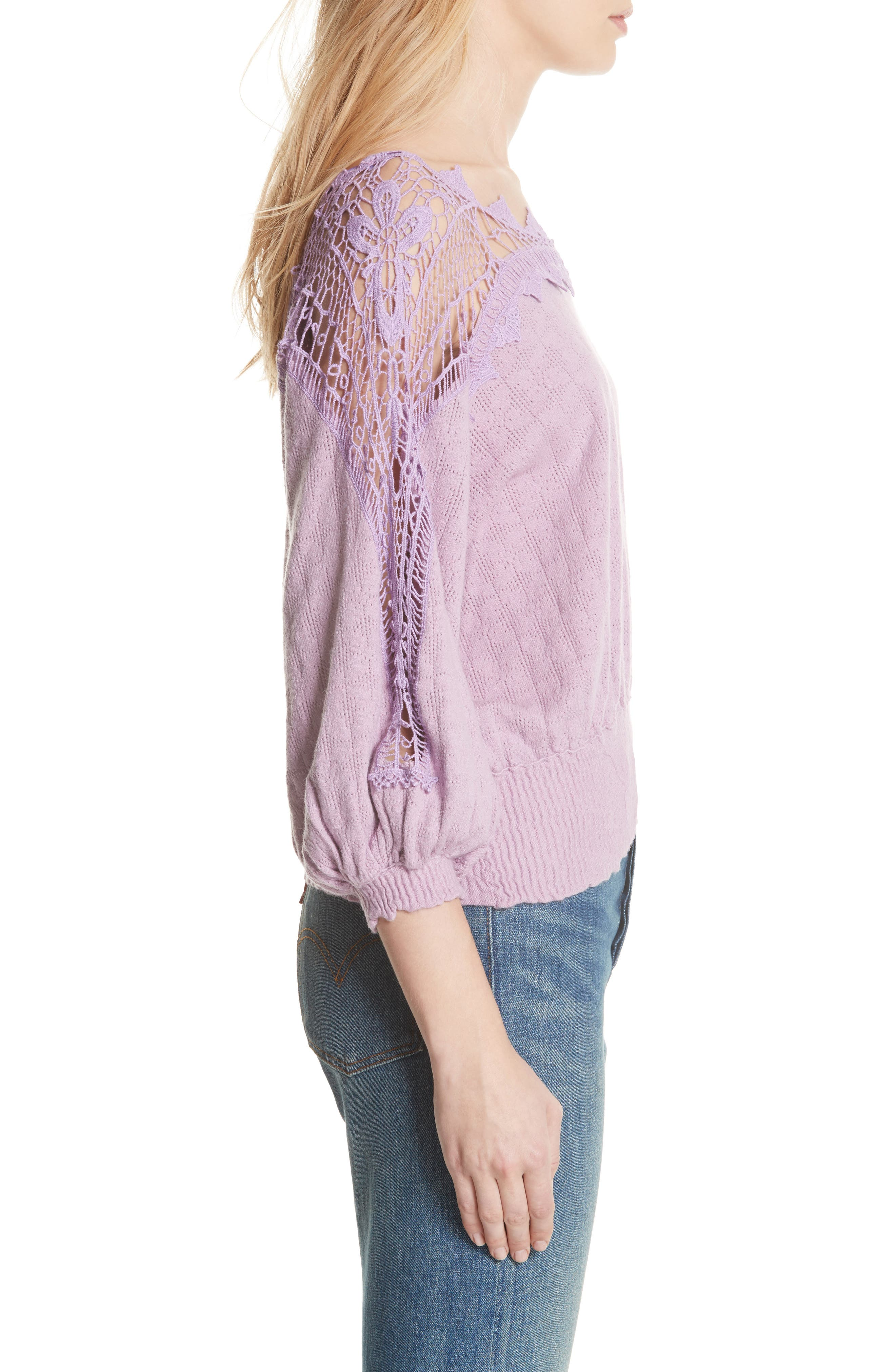 Love Lace Sweater,                             Alternate thumbnail 3, color,                             531