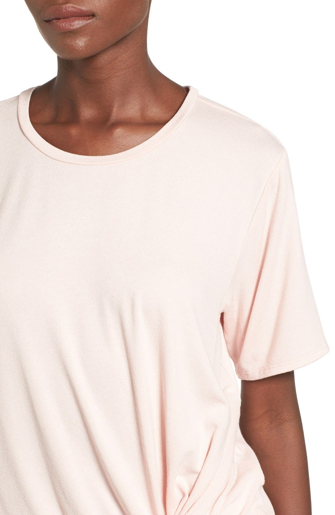 Knot Front Tee,                             Alternate thumbnail 4, color,