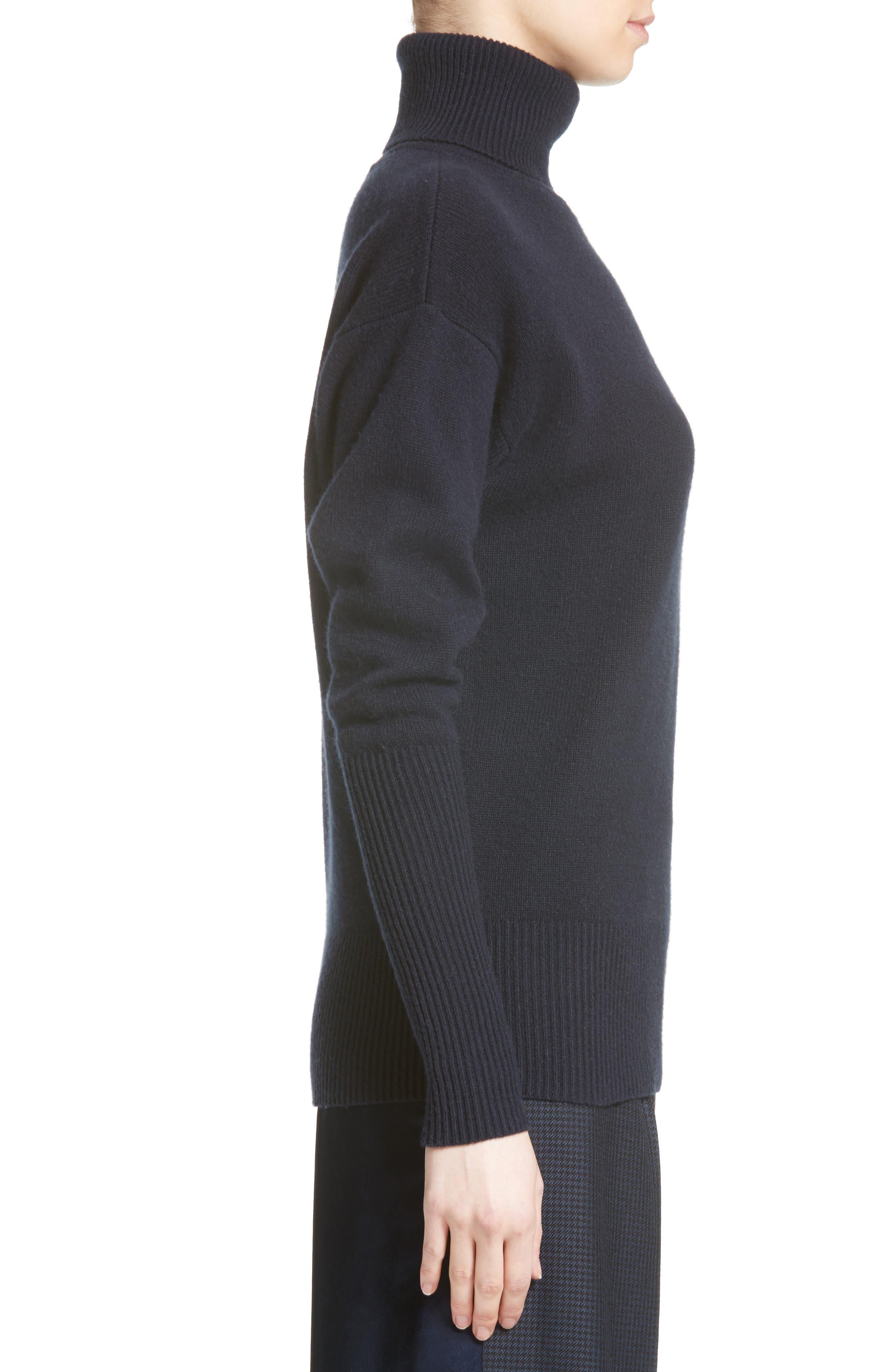Cashmere Turtleneck Sweater,                             Alternate thumbnail 3, color,                             400