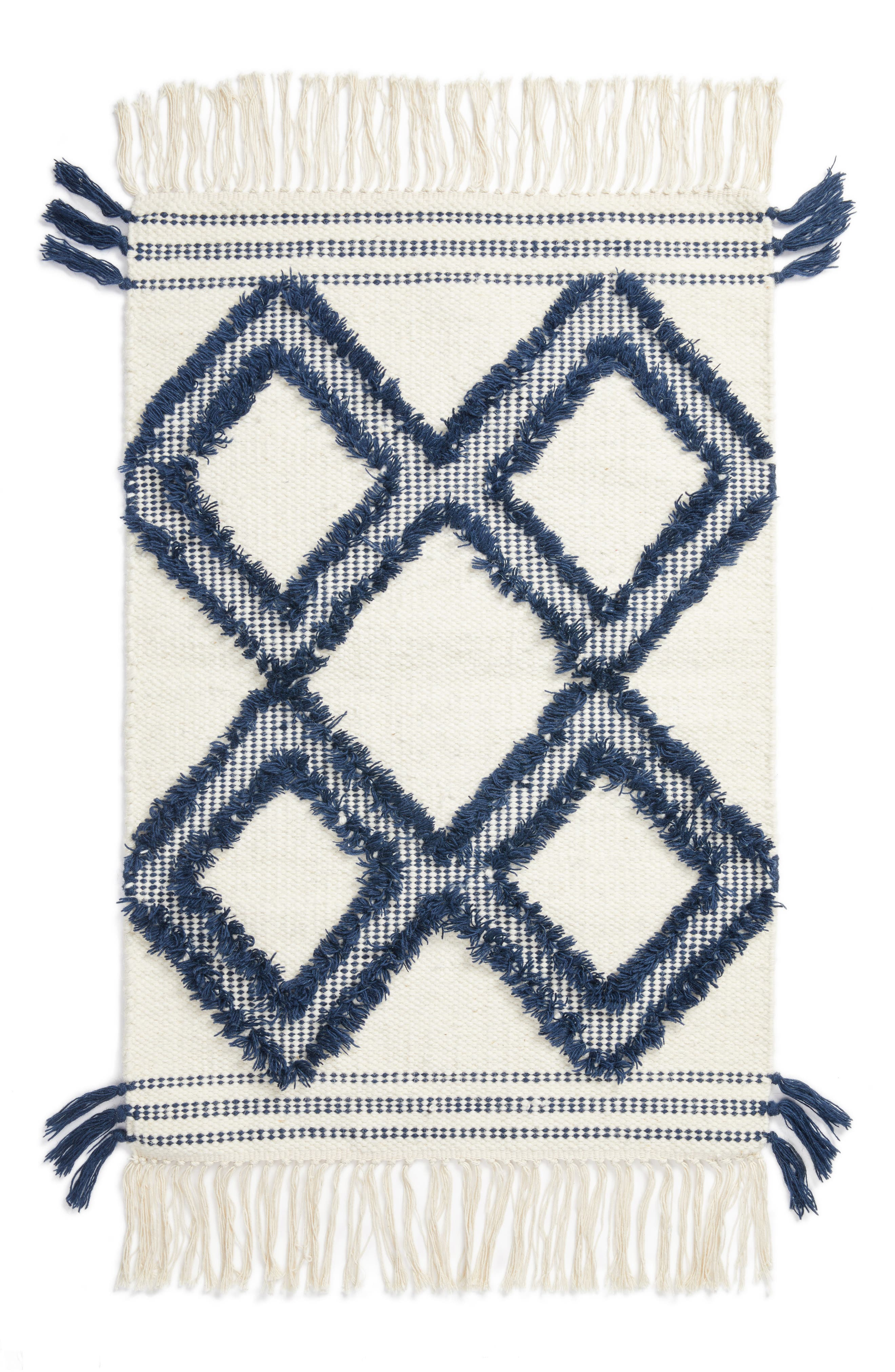 Diamond Tassel Rug,                         Main,                         color,