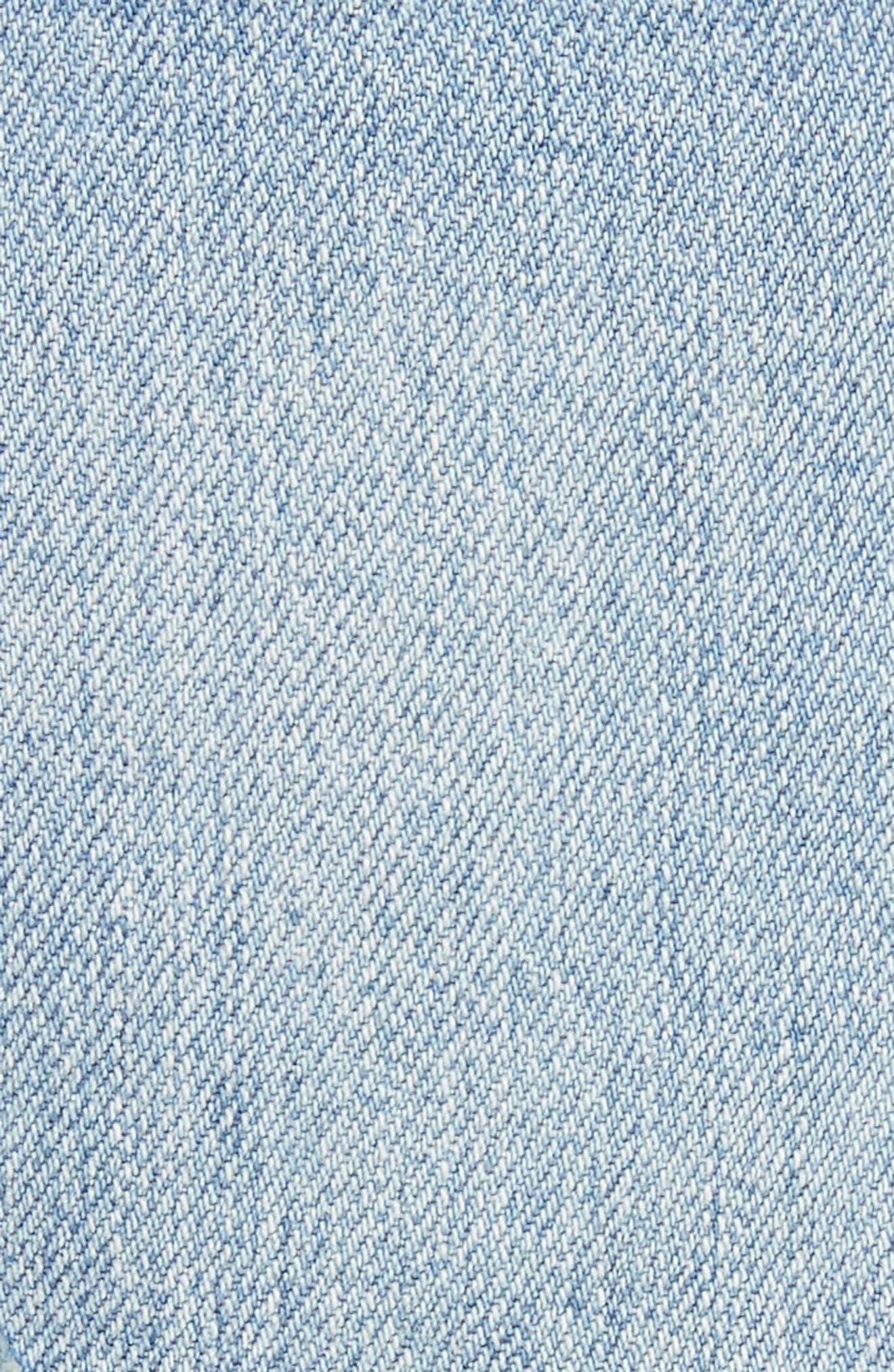 Le Grand Garçon Cutoff Denim Shorts,                             Alternate thumbnail 5, color,                             451