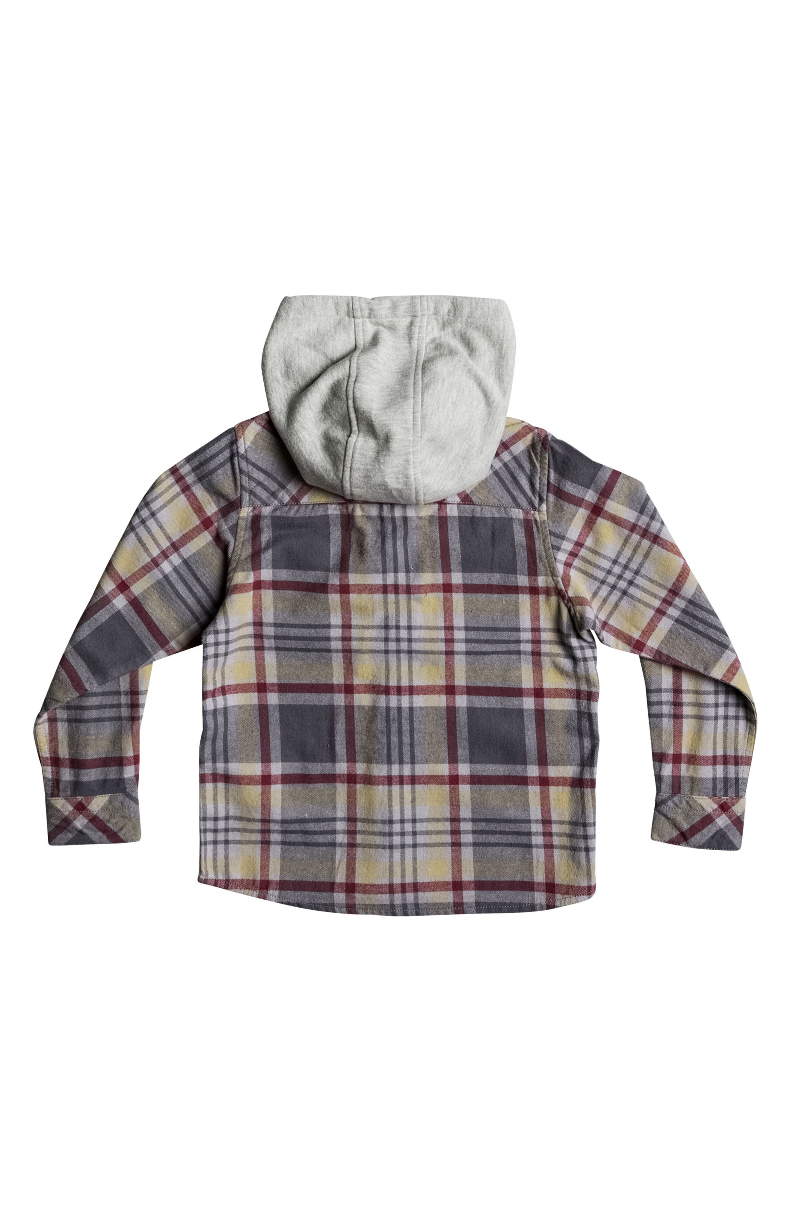 Hooded Plaid Flannel Shirt,                             Alternate thumbnail 2, color,                             267