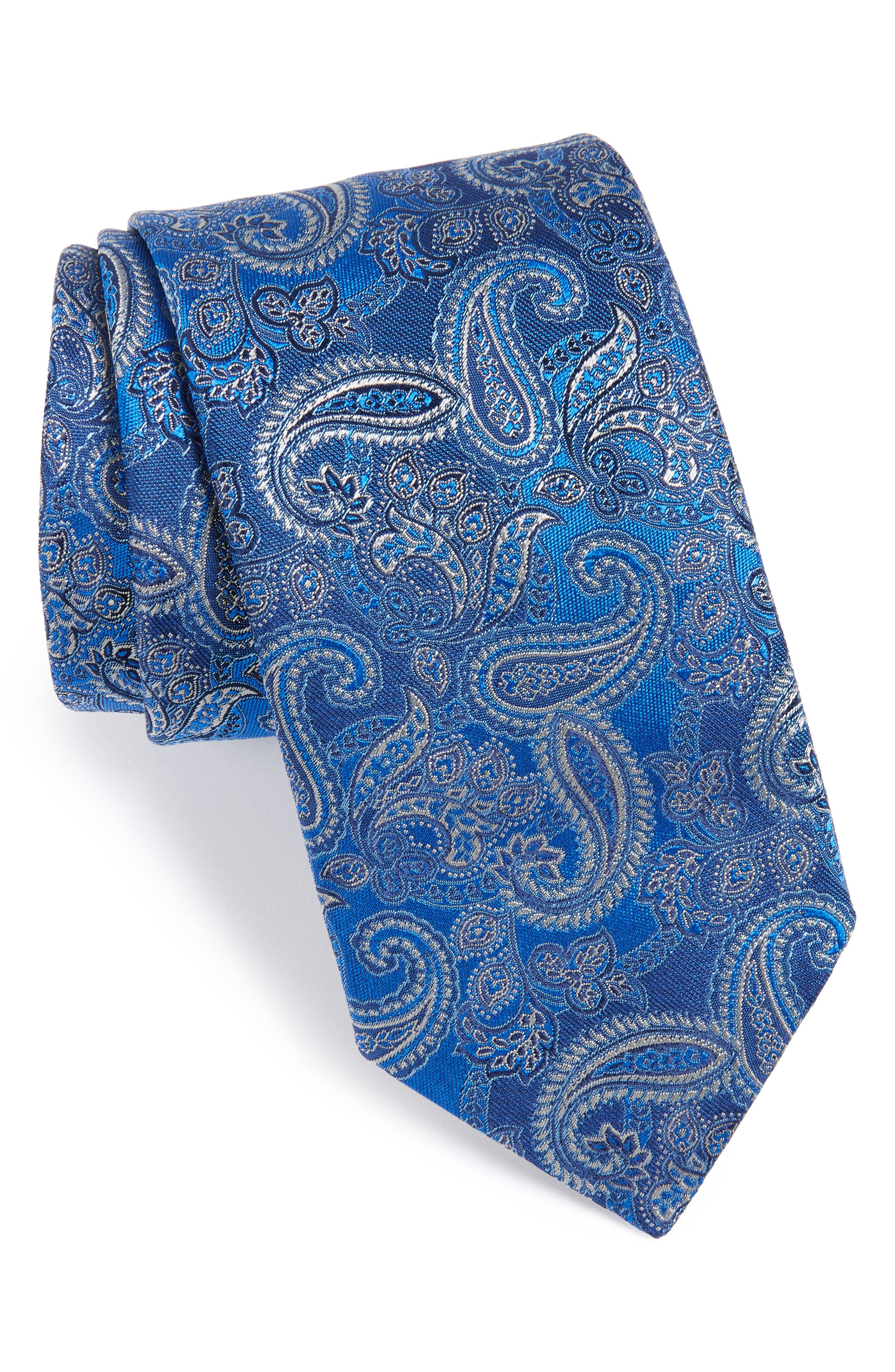 Paisley Silk Tie,                             Main thumbnail 1, color,                             400