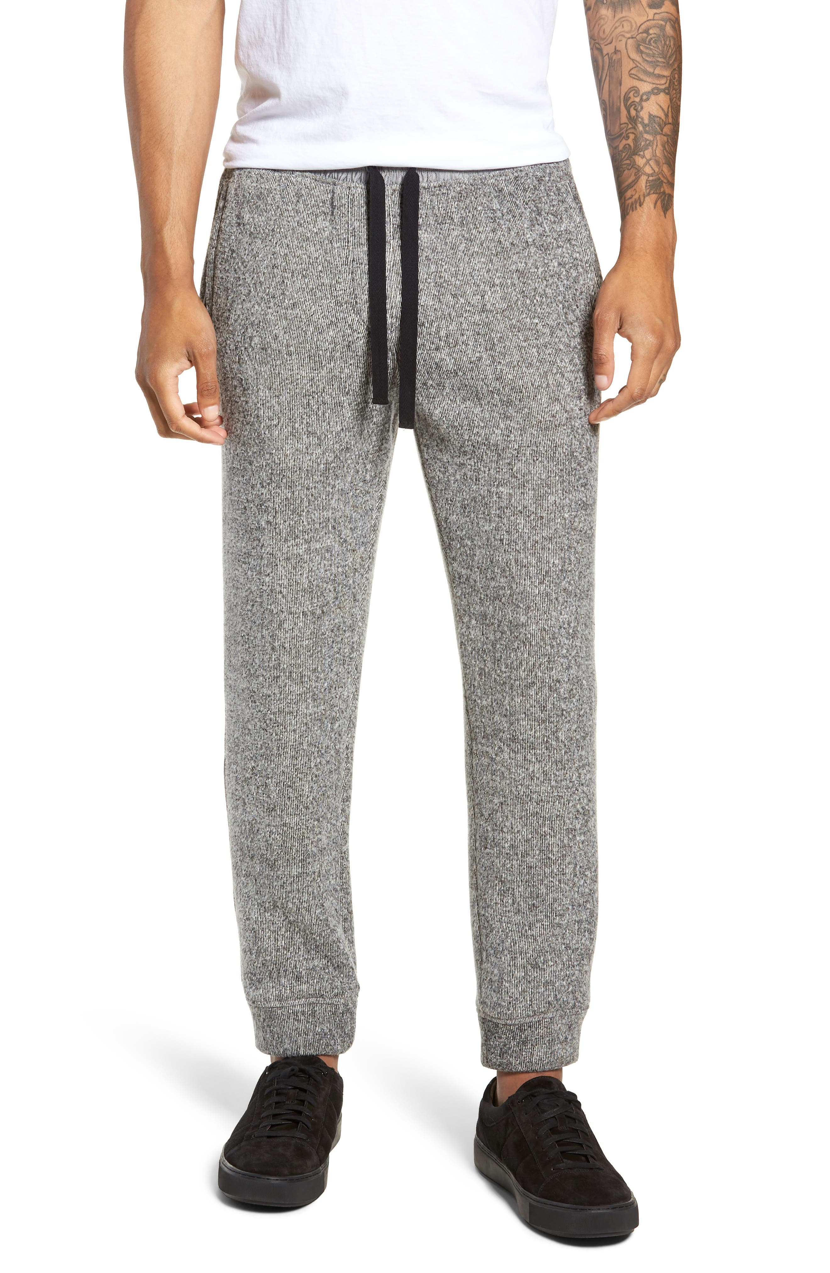 Double Face Slim Fit Sweatpants,                             Main thumbnail 1, color,                             001