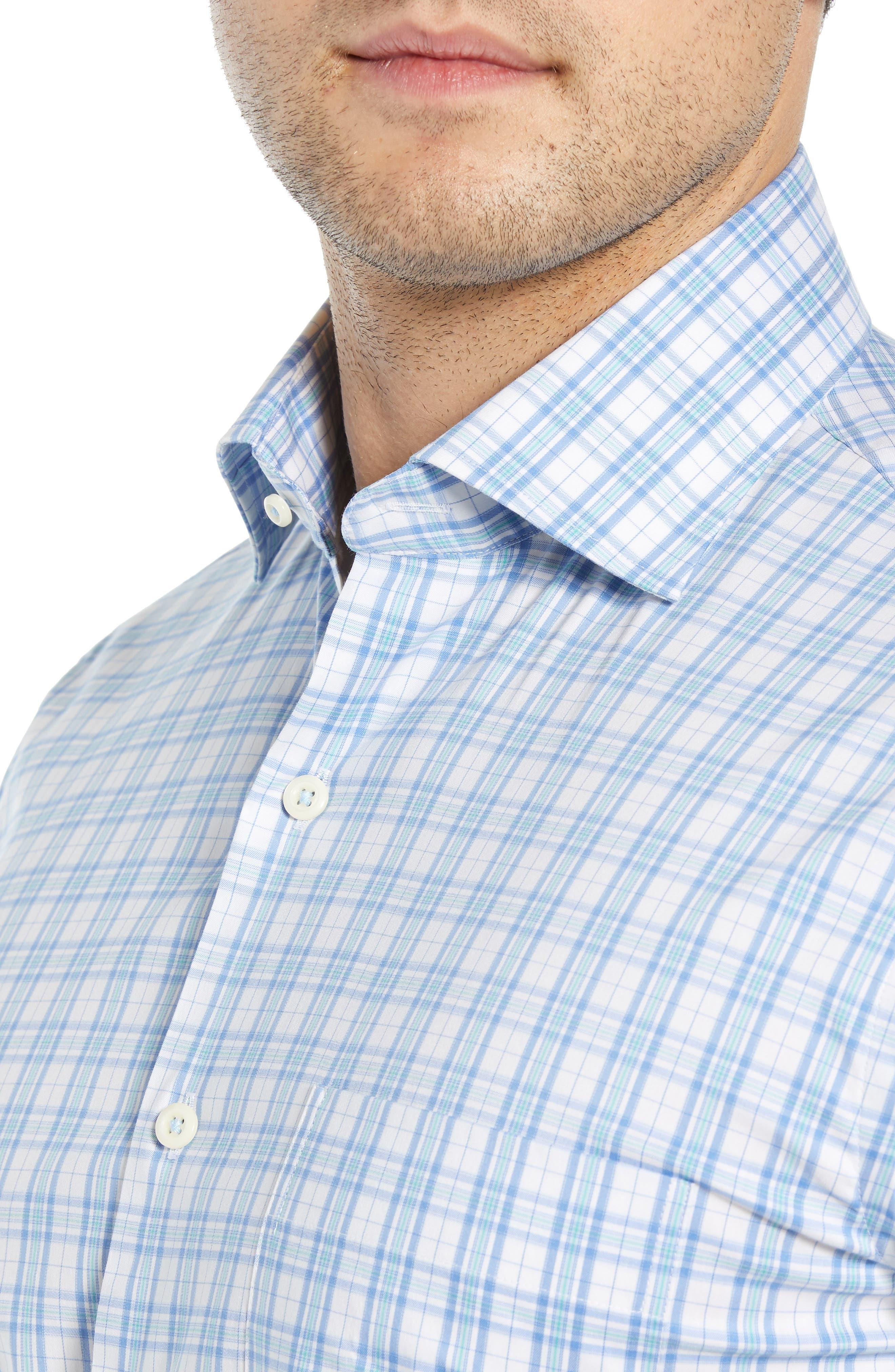 Portofino Tartan Performance Sport Shirt,                             Alternate thumbnail 2, color,                             VESSEL