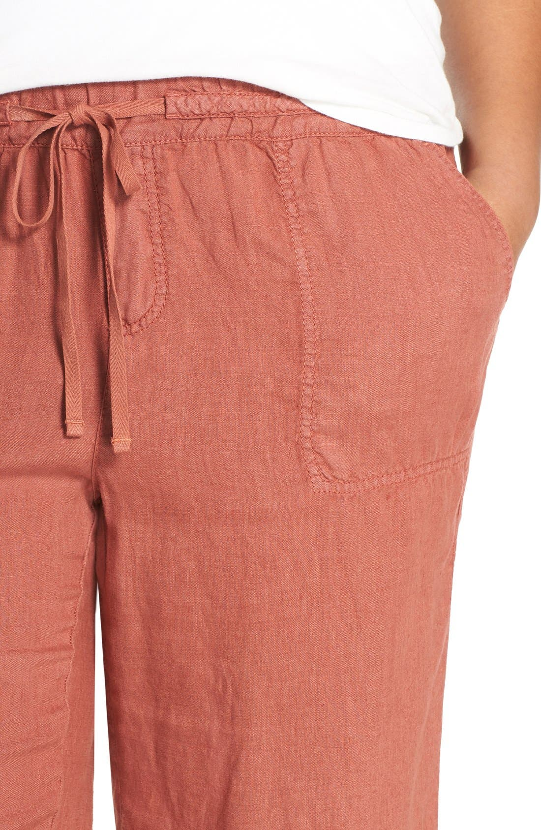Drawstring Linen Pants,                             Alternate thumbnail 31, color,