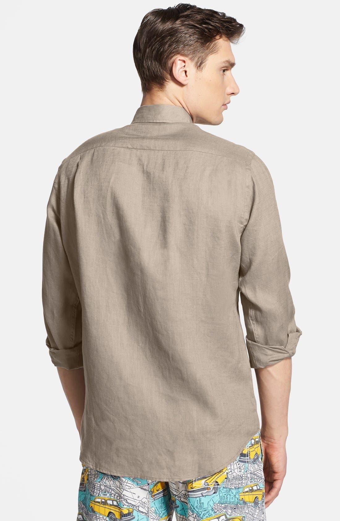 'Caroubier' Linen Shirt,                             Alternate thumbnail 20, color,