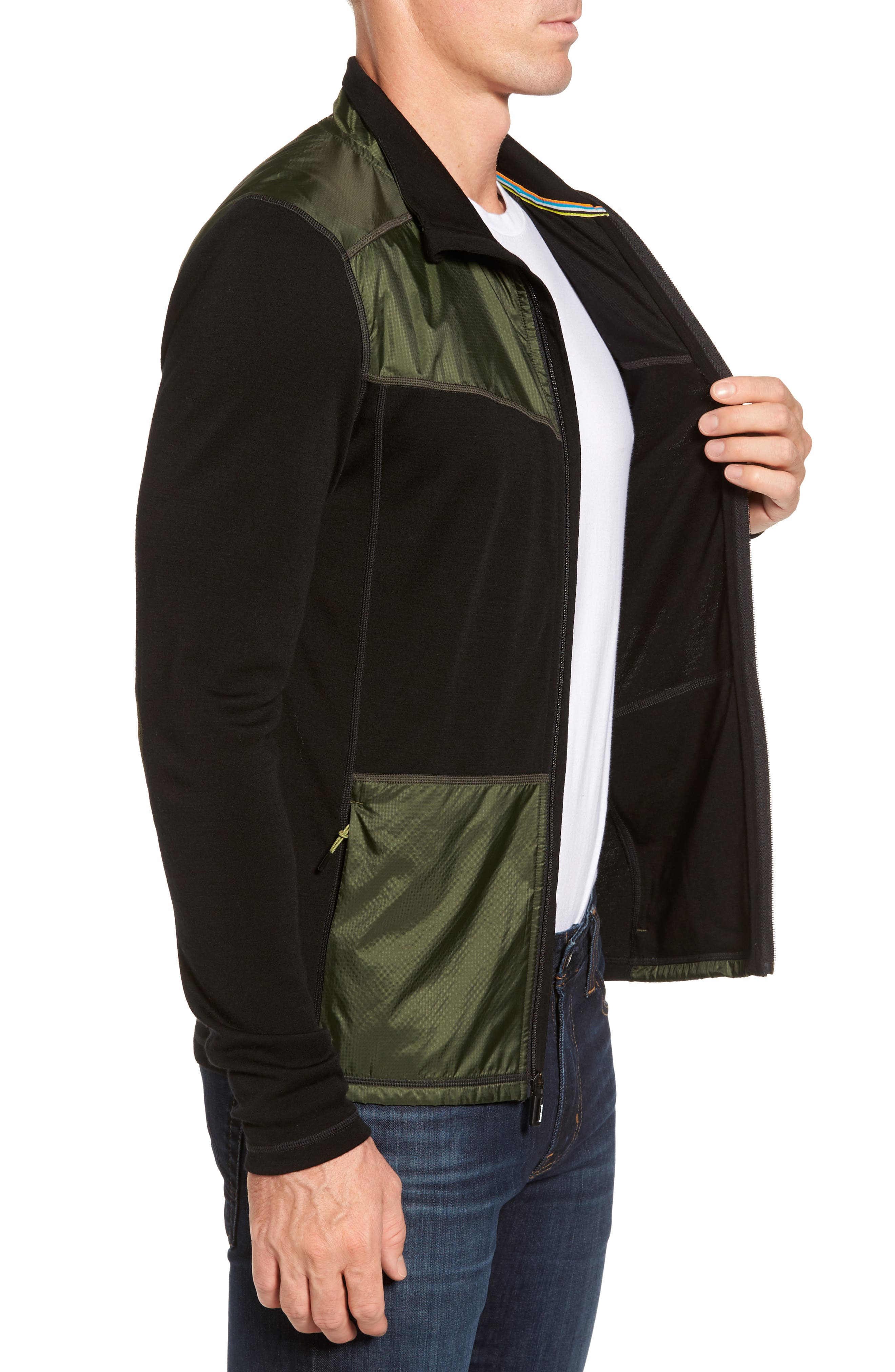 250 Sport Merino Wool Zip Jacket,                             Alternate thumbnail 3, color,                             301