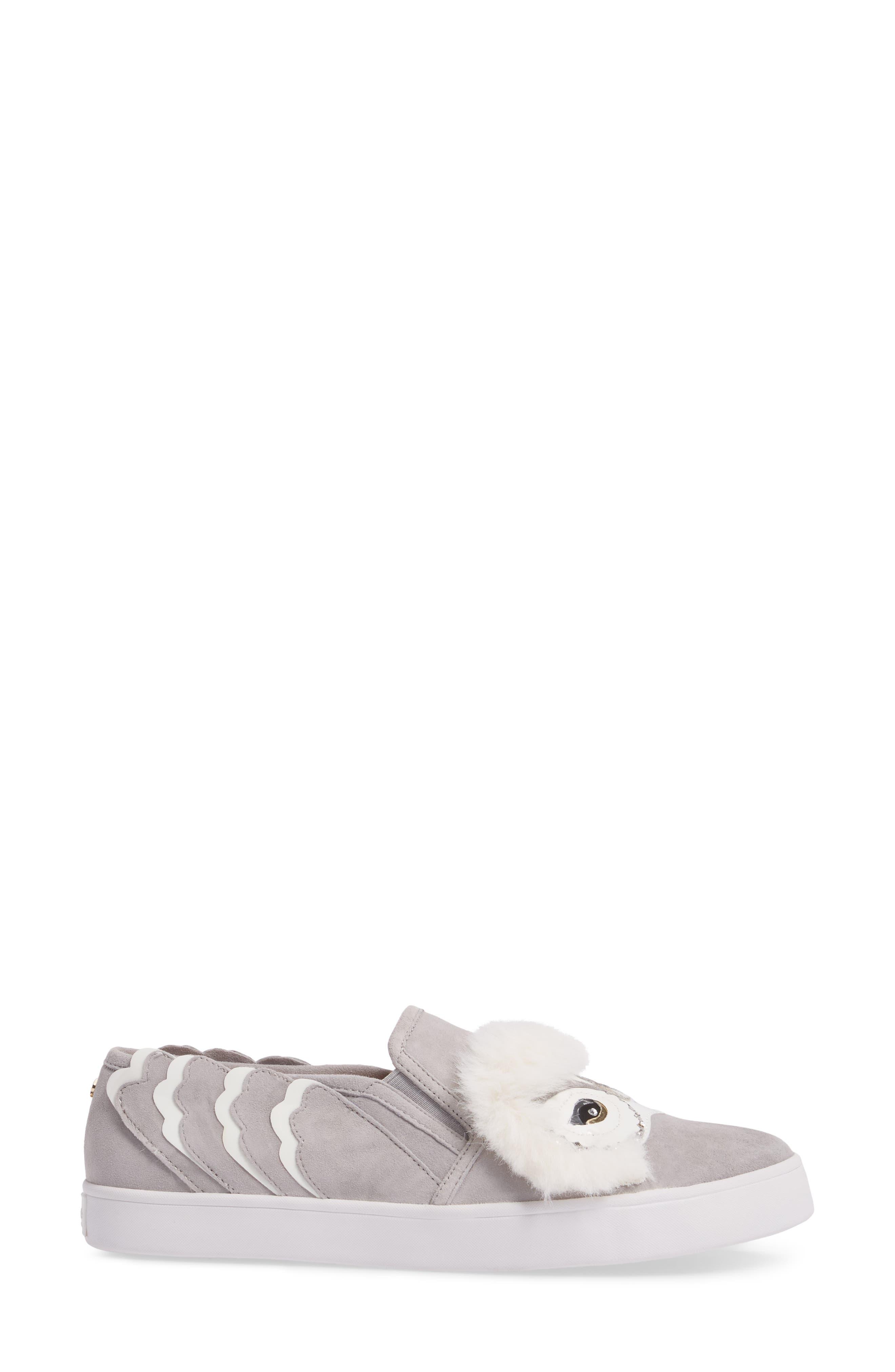 leferts faux fur trim slip-on sneaker,                             Alternate thumbnail 3, color,                             020