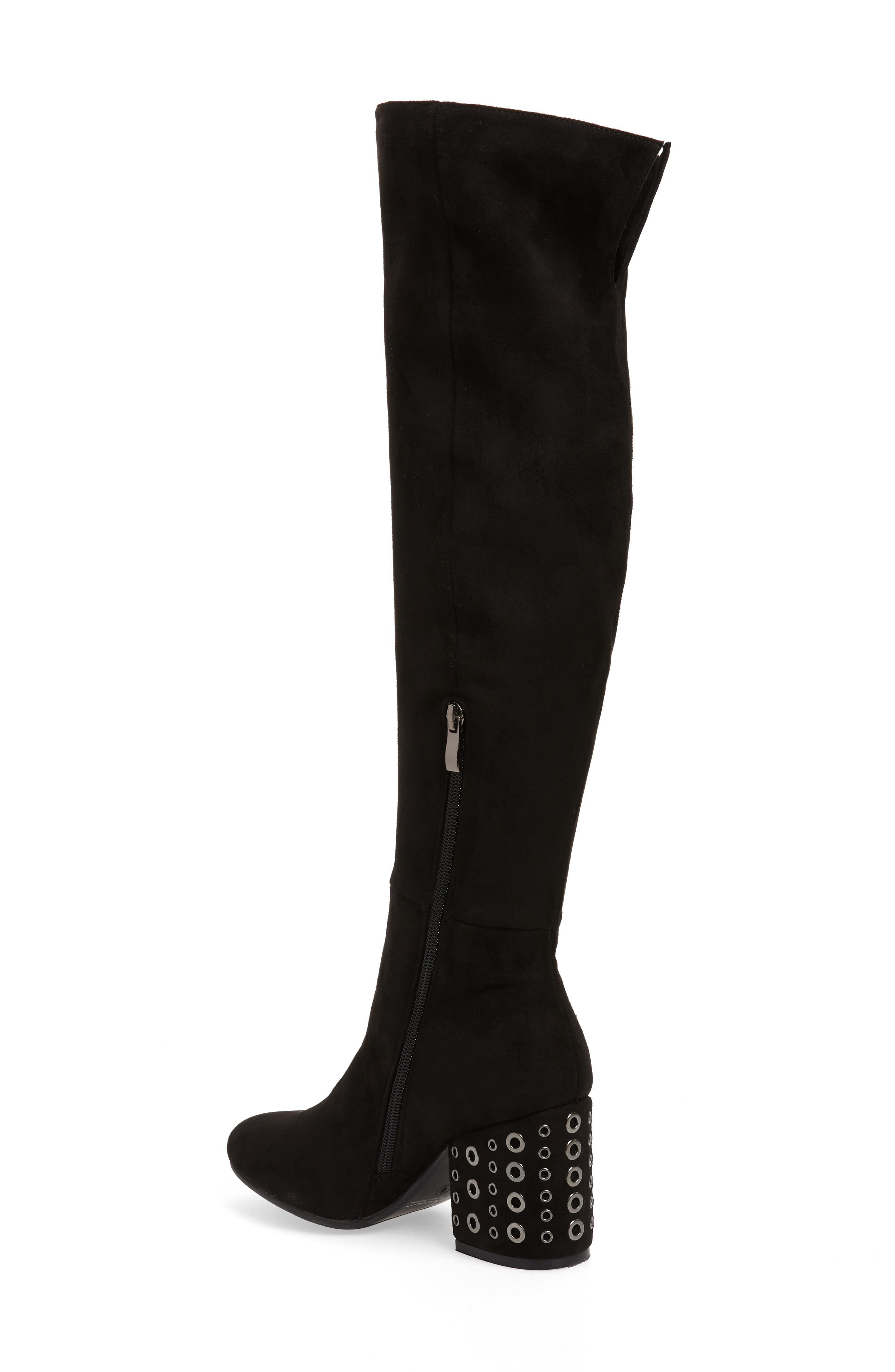 Ellaria Over the Knee Boot,                             Alternate thumbnail 2, color,                             BLACK FABRIC