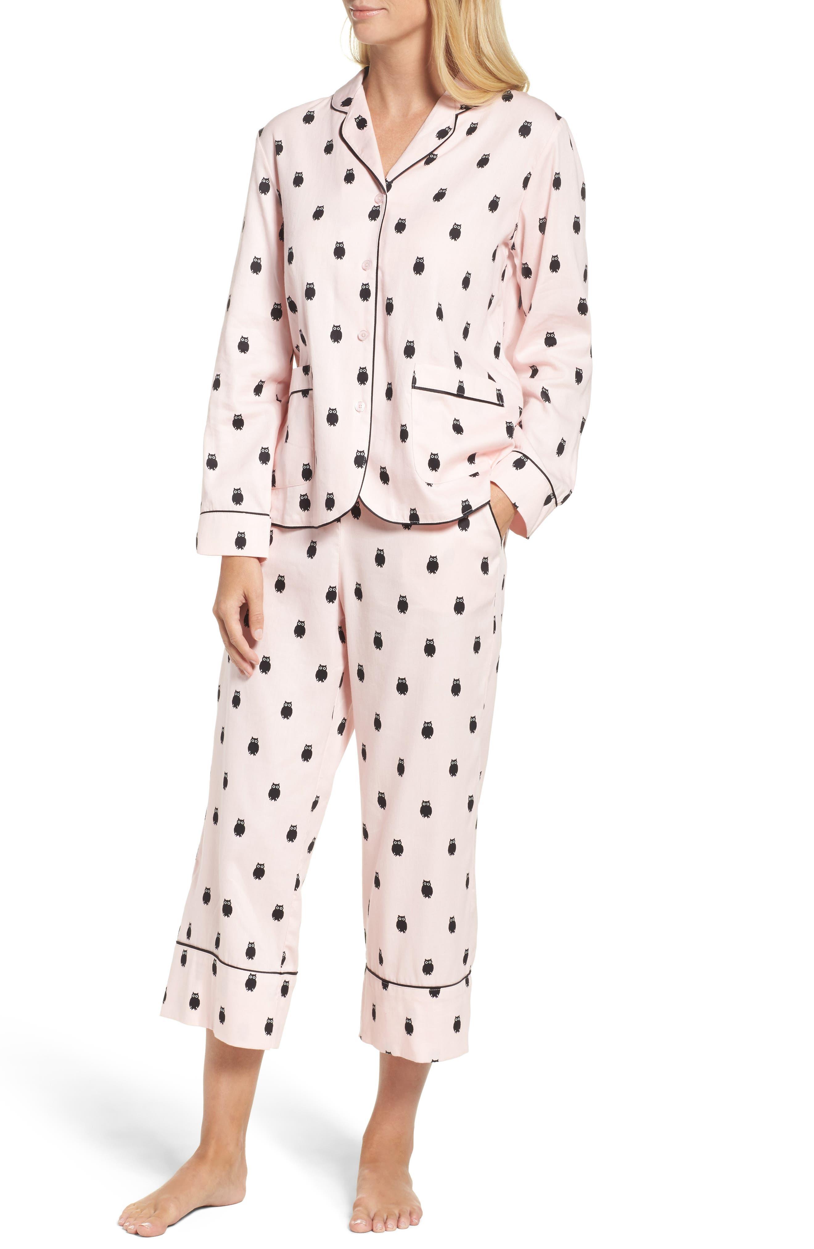 crop pajamas,                             Main thumbnail 1, color,                             650