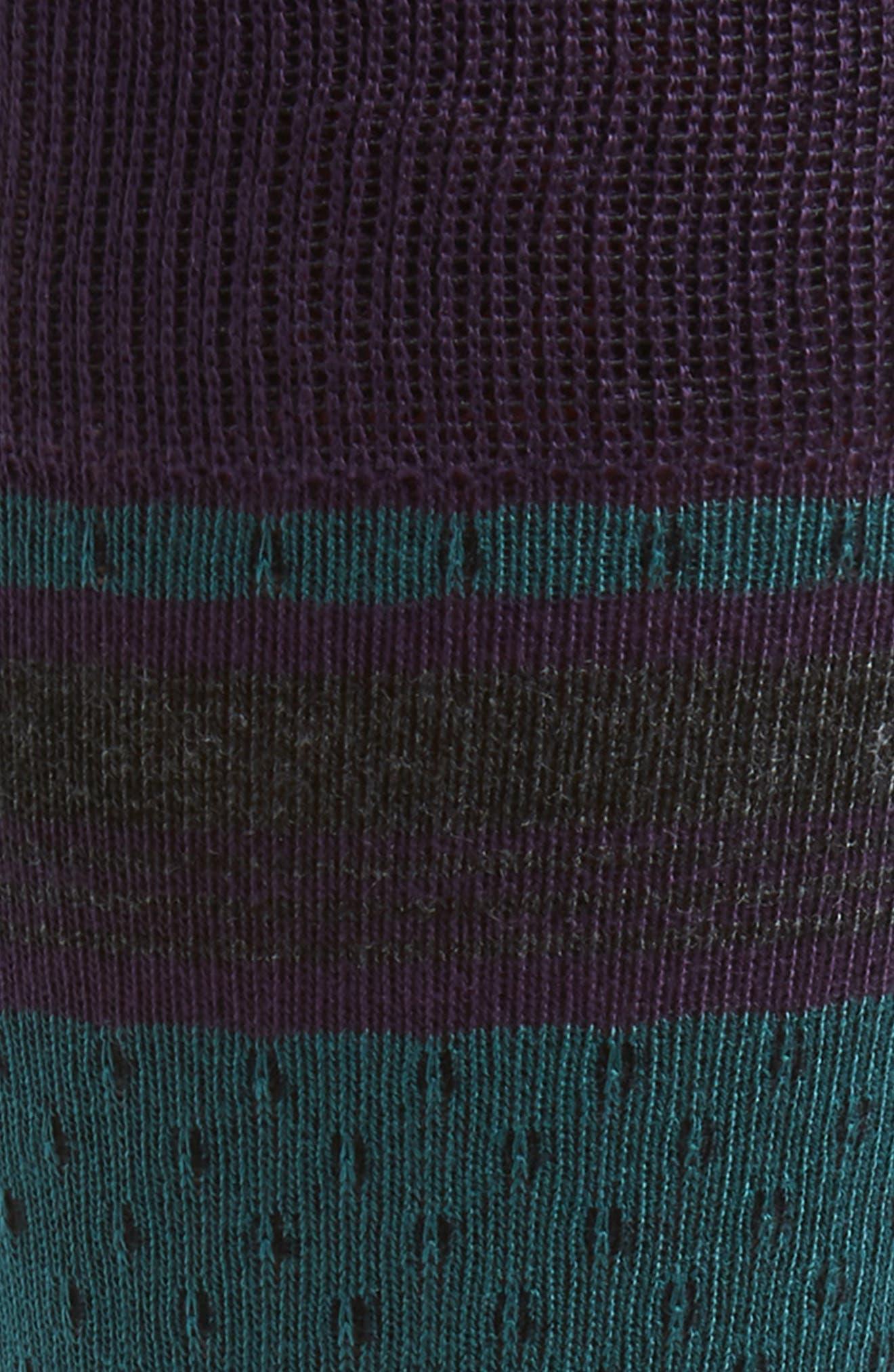 Stripe Socks,                             Alternate thumbnail 2, color,                             PURPLE/ CHARCOAL