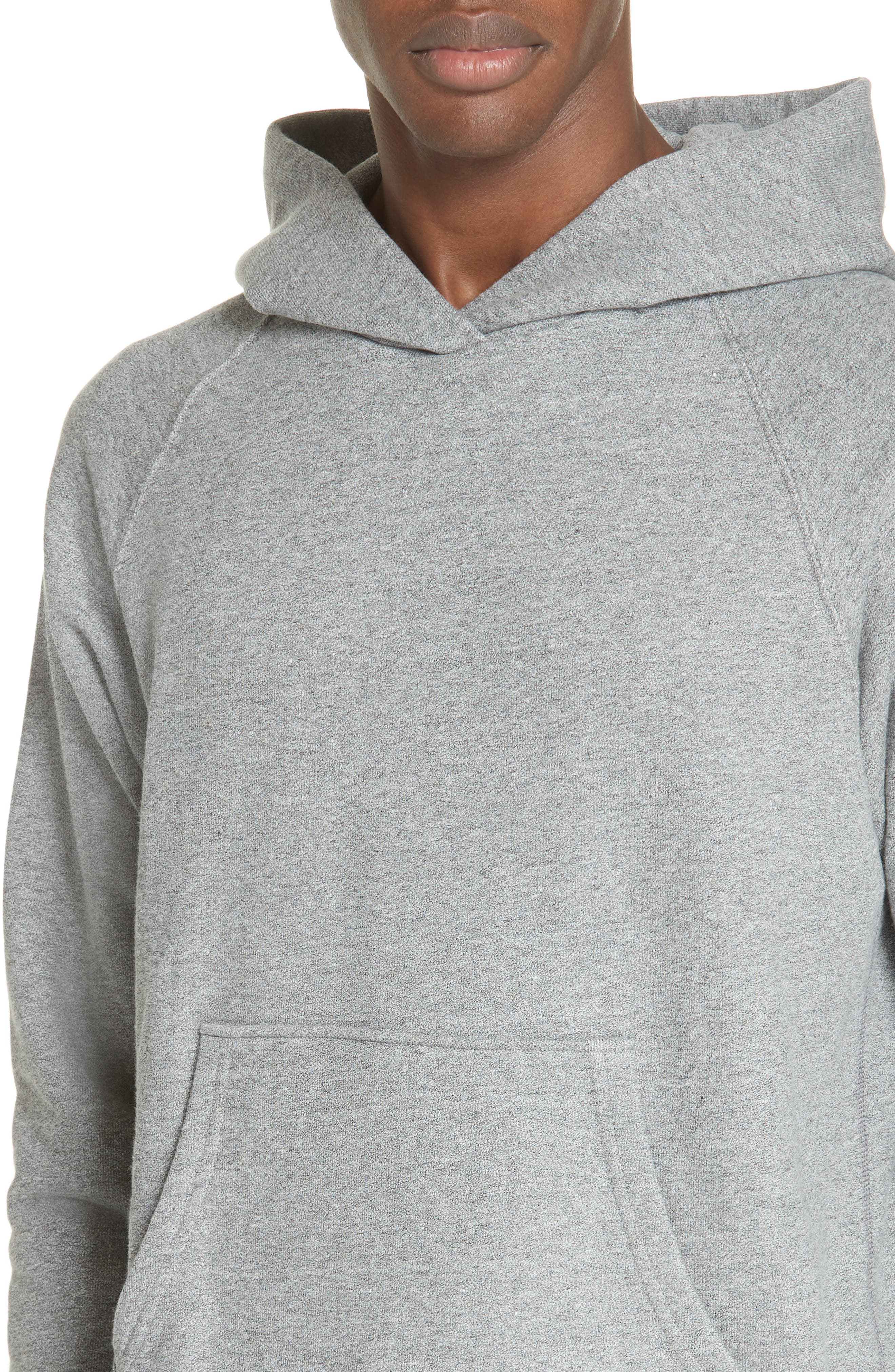 Raglan Hooded Sweatshirt,                             Alternate thumbnail 4, color,                             DARK GREY
