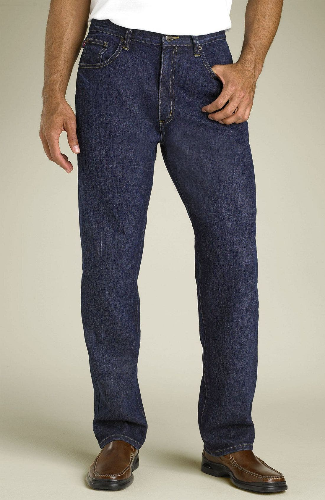 Classic Five Pocket Straight Leg Jeans,                             Main thumbnail 1, color,                             461