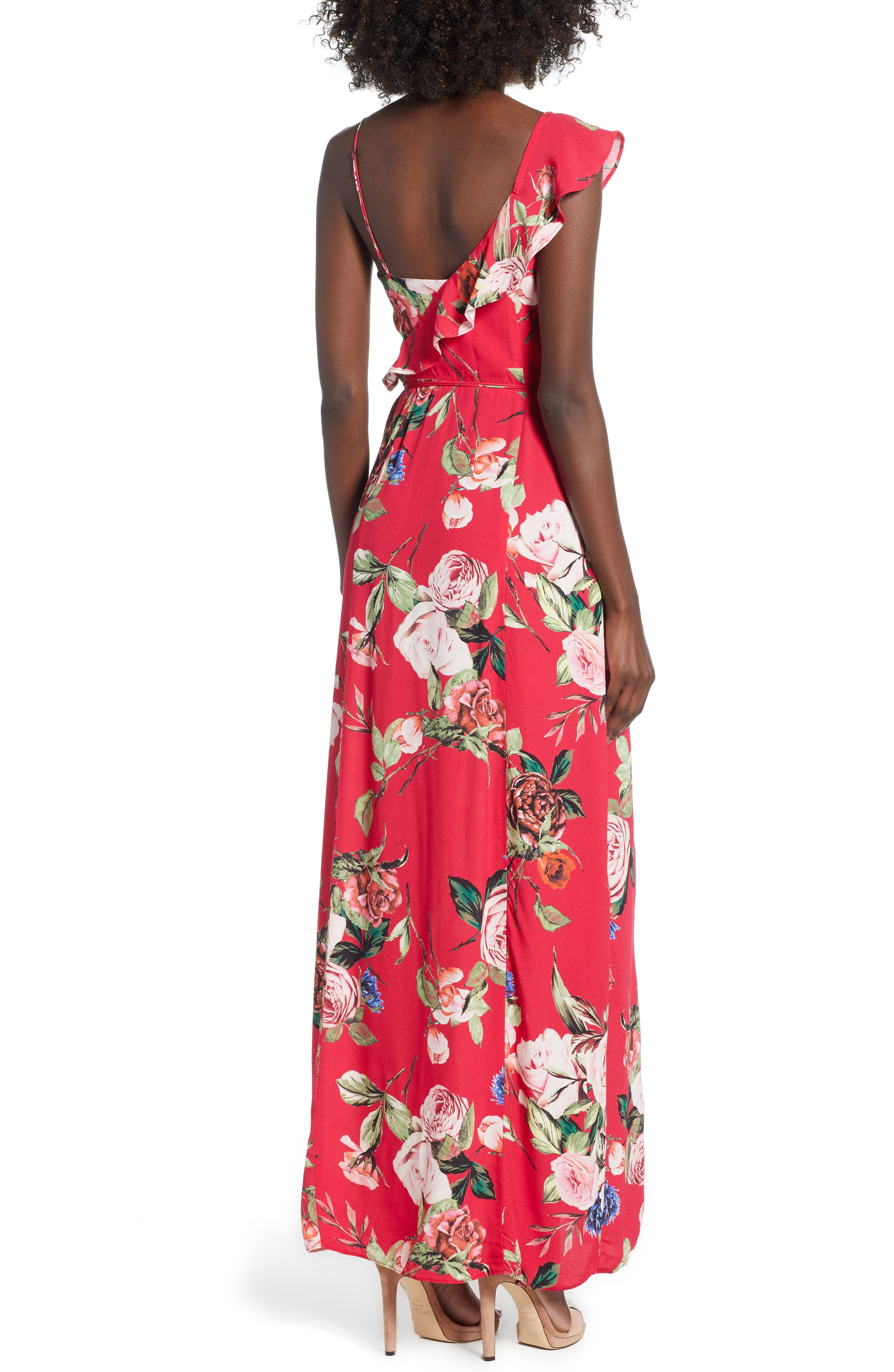 Bowen Wrap Maxi Dress,                             Alternate thumbnail 2, color,                             600