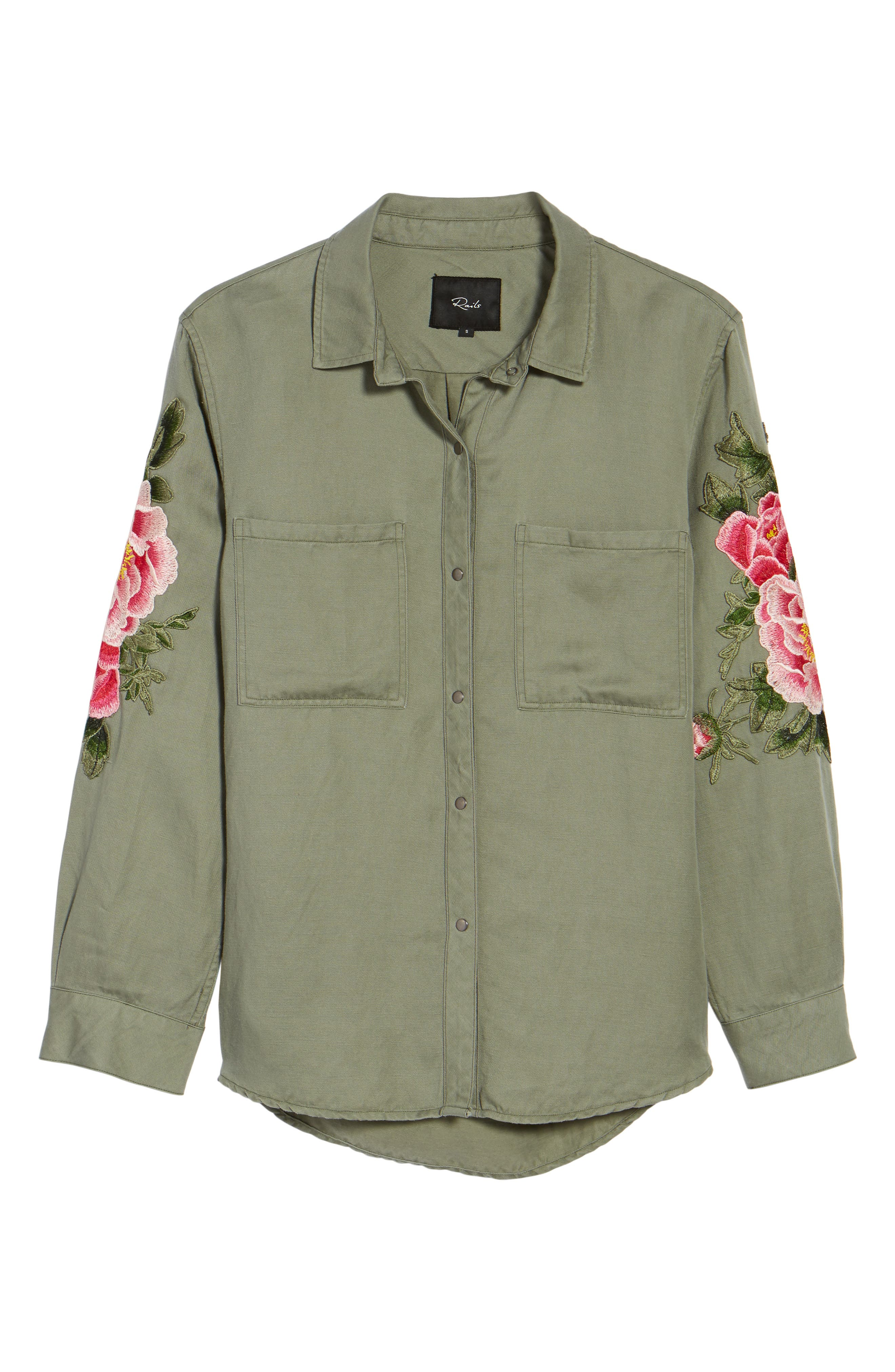 Marcel Embroidered Shirt,                             Alternate thumbnail 6, color,                             302