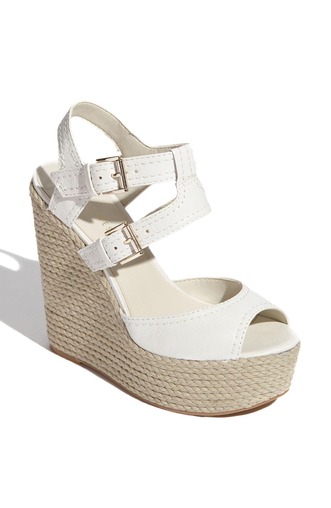 'Blanca' Wedge Sandal, Main, color, 101