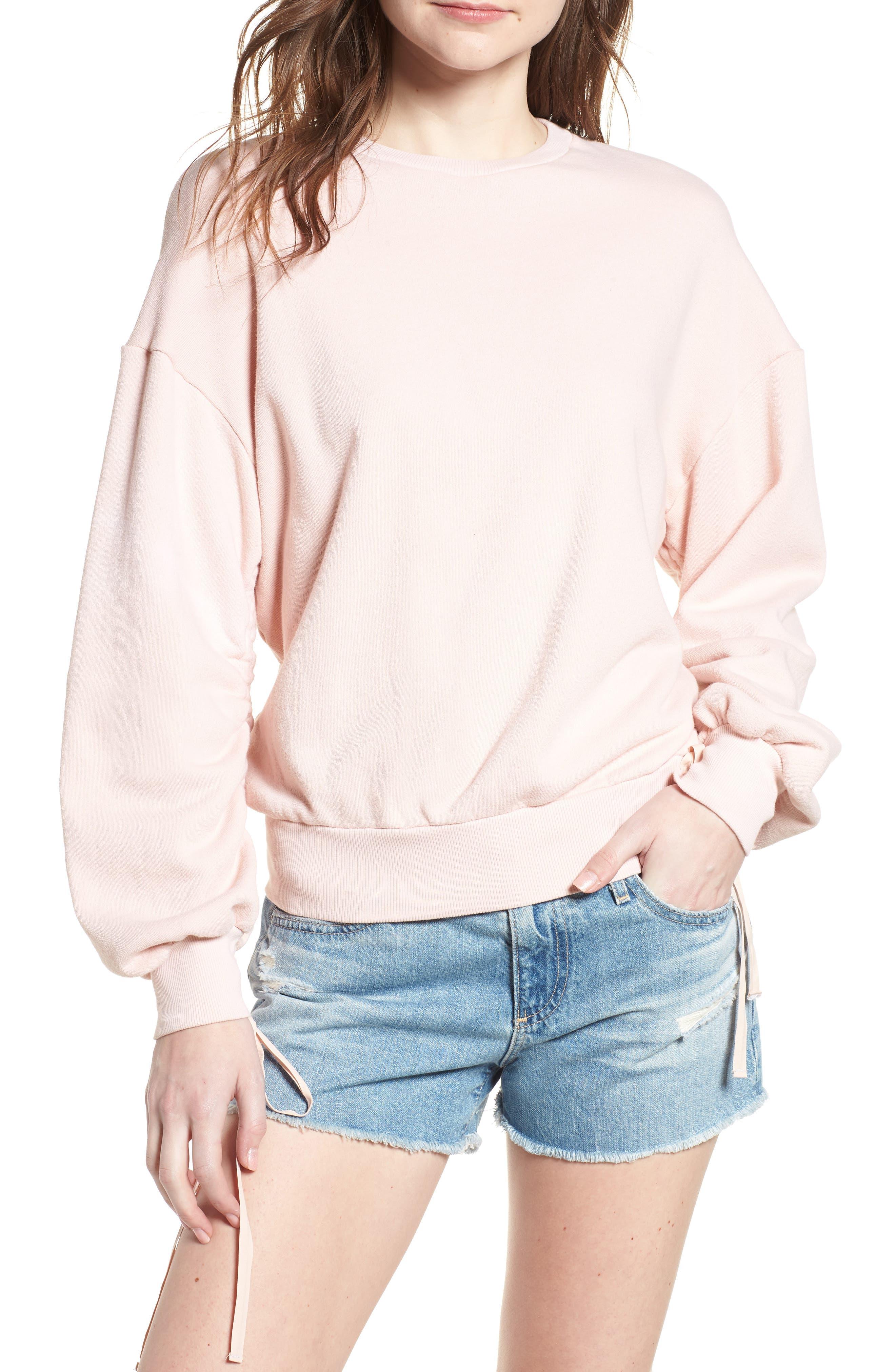Karis Sweatshirt,                         Main,                         color, SWEET DAWN