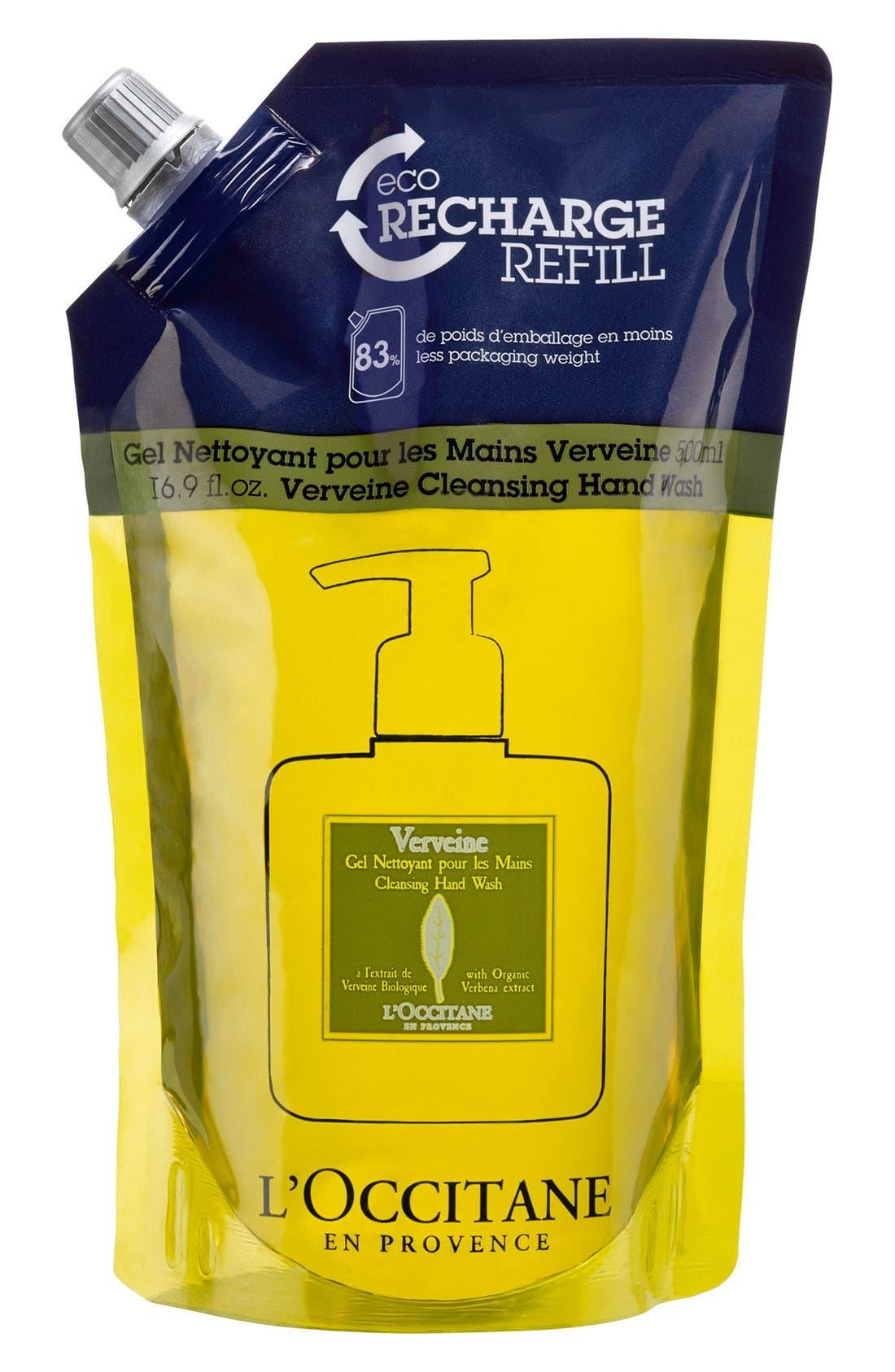 'Verbena' Cleansing Hand Wash Eco-Refill,                             Main thumbnail 1, color,                             NO COLOR