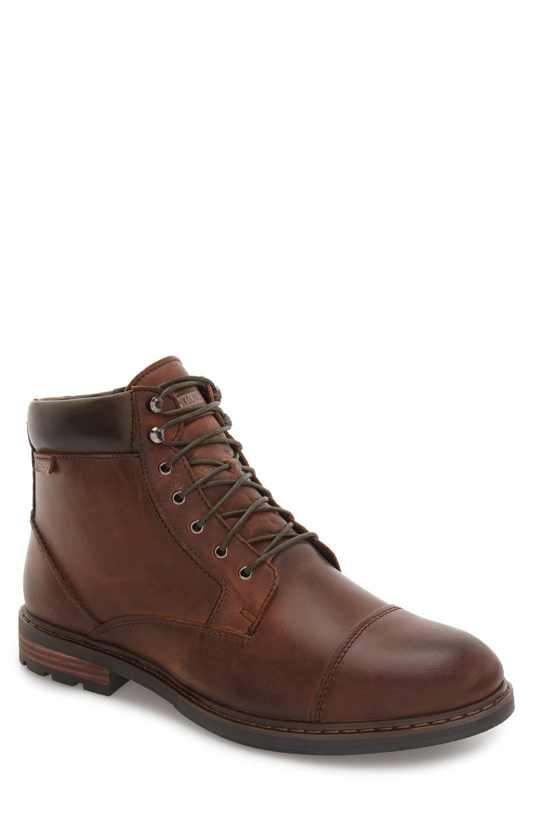 'Cacers' Lace-Up Zip Boot,                             Main thumbnail 2, color,
