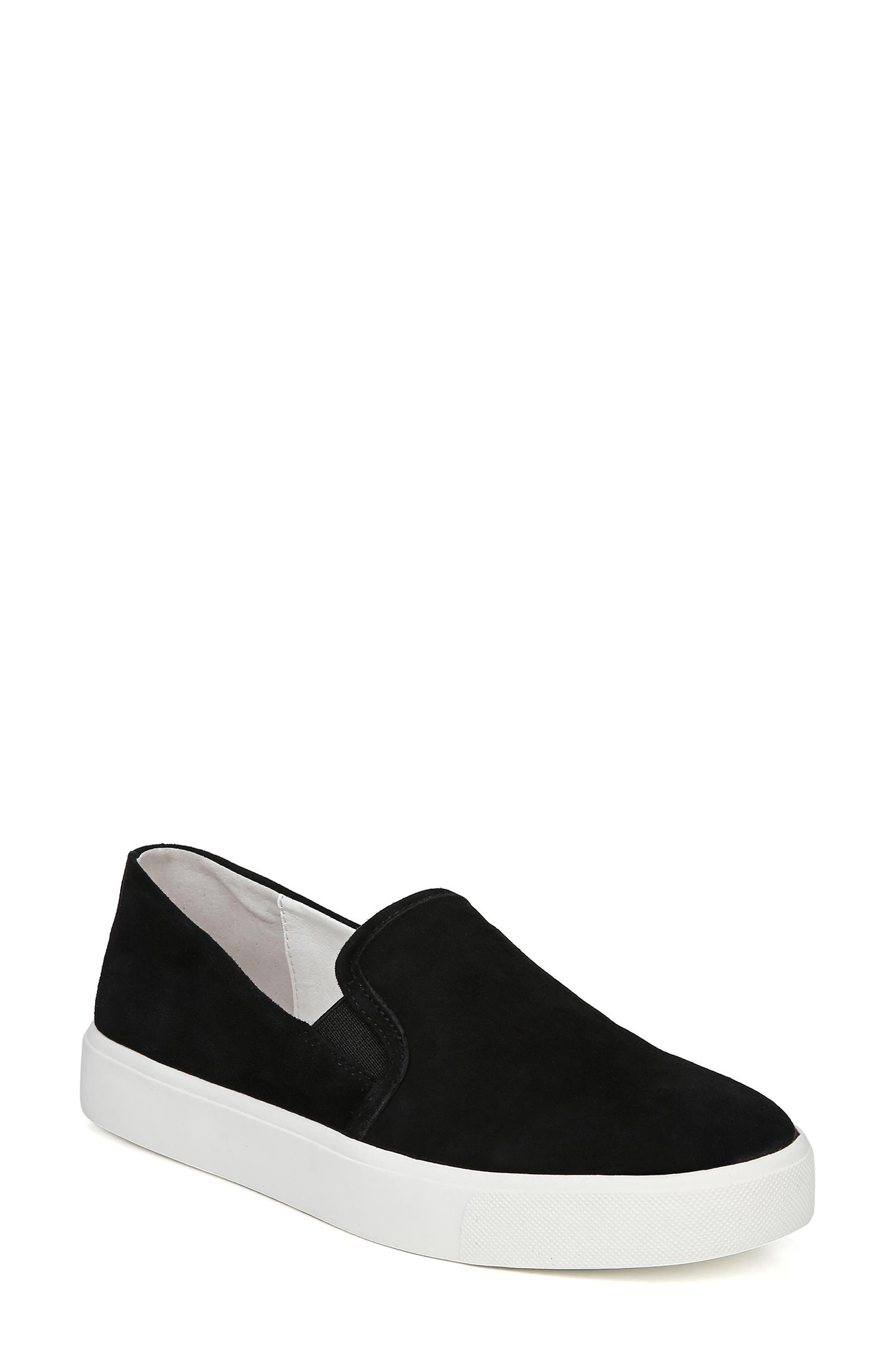 Elton Slip-On Sneaker,                         Main,                         color, BLACK SUEDE LEATHER