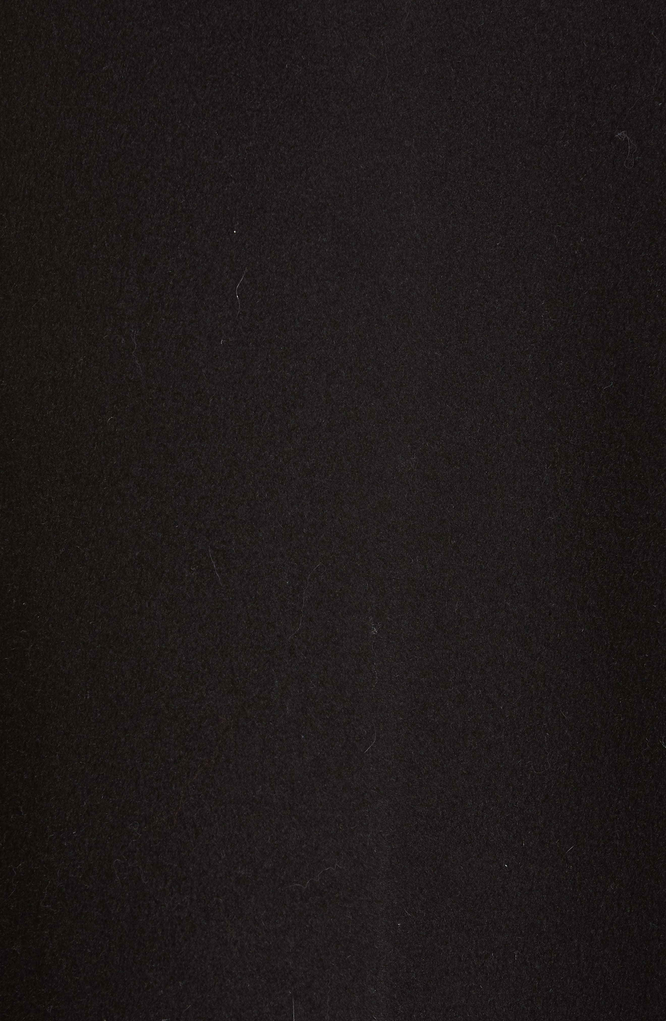 SAKS POTTS,                             Yvonne Wool Coat with Genuine Fox Fur Trim,                             Alternate thumbnail 6, color,                             001