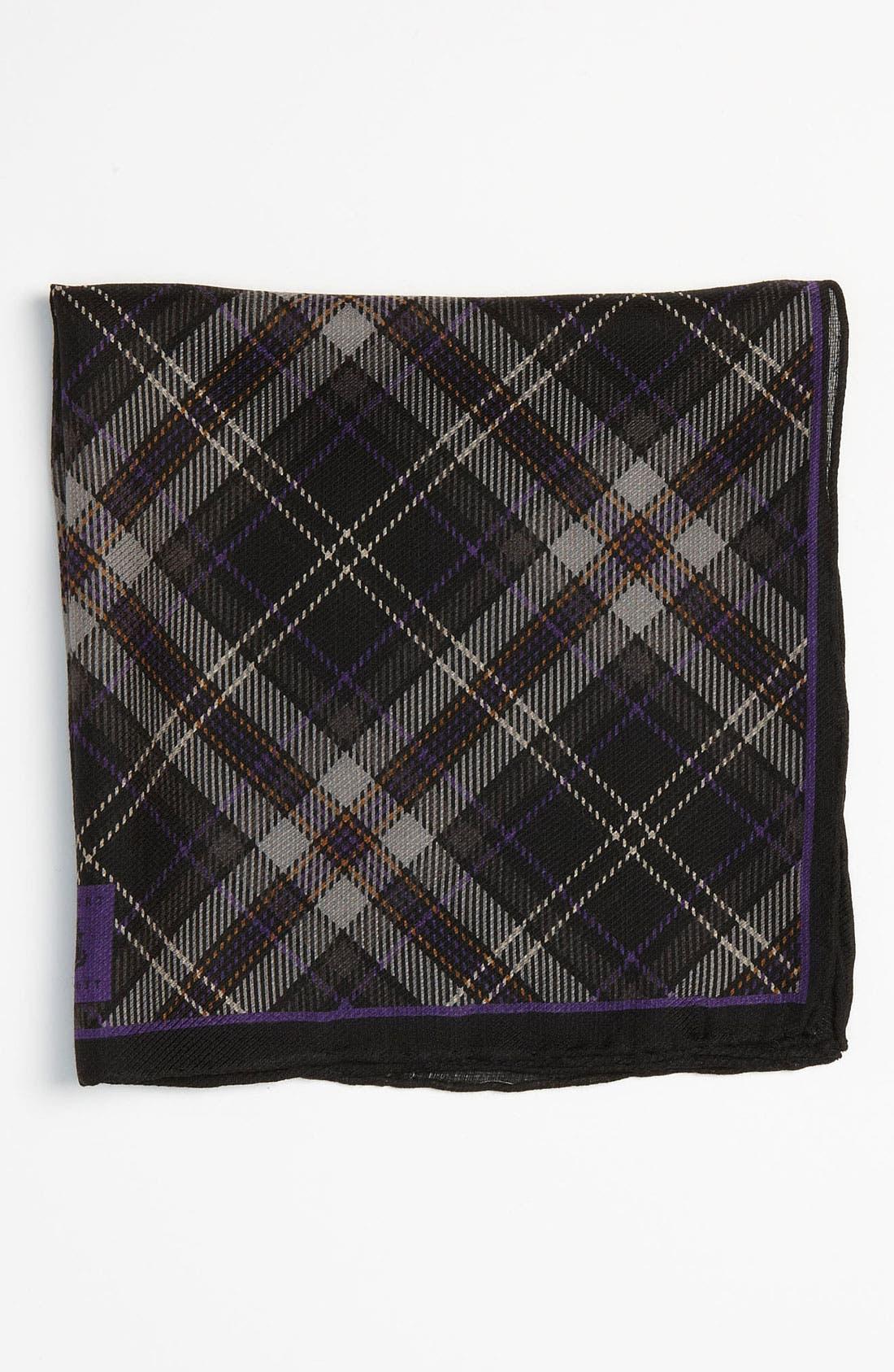 Silk & Wool Pocket Square,                         Main,                         color, 030