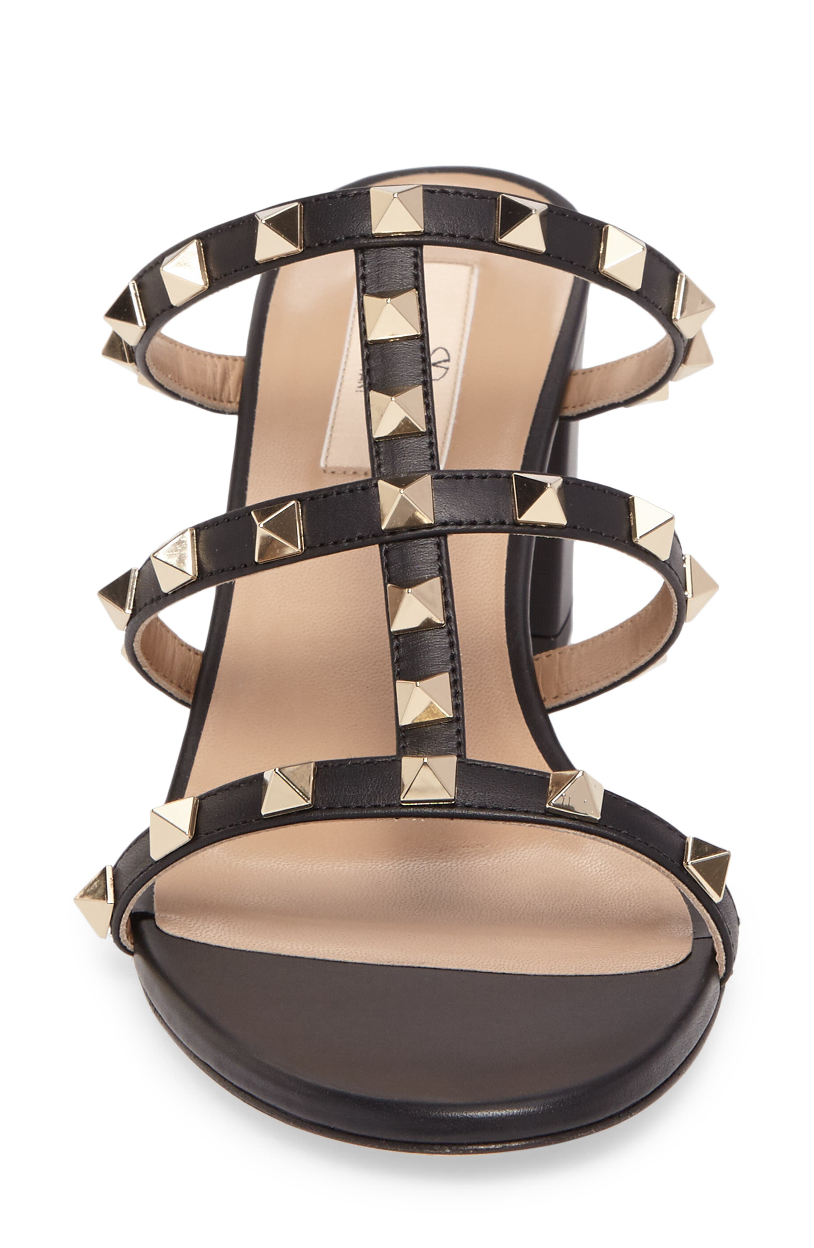 Rockstud Slide Sandal,                             Alternate thumbnail 4, color,                             002