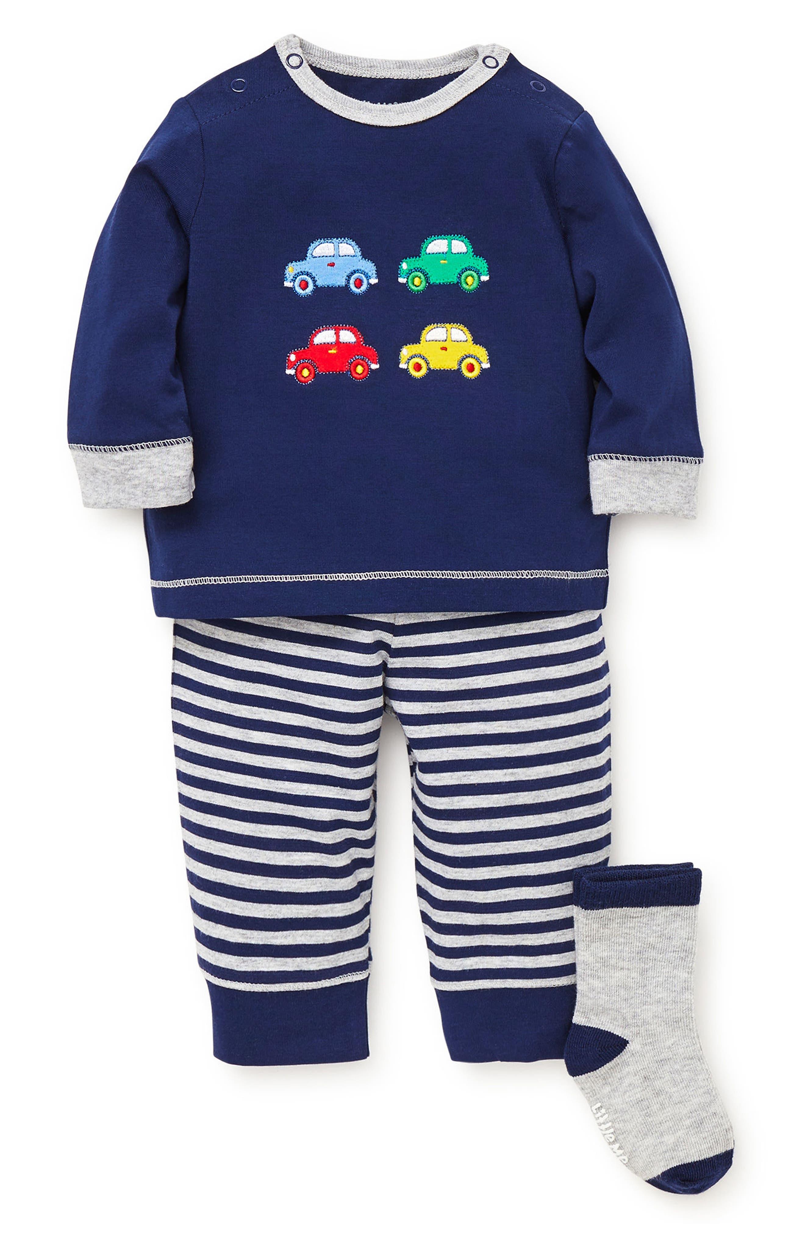 Fun Cars T-Shirt, Jogger Pants & Socks Set,                             Main thumbnail 1, color,