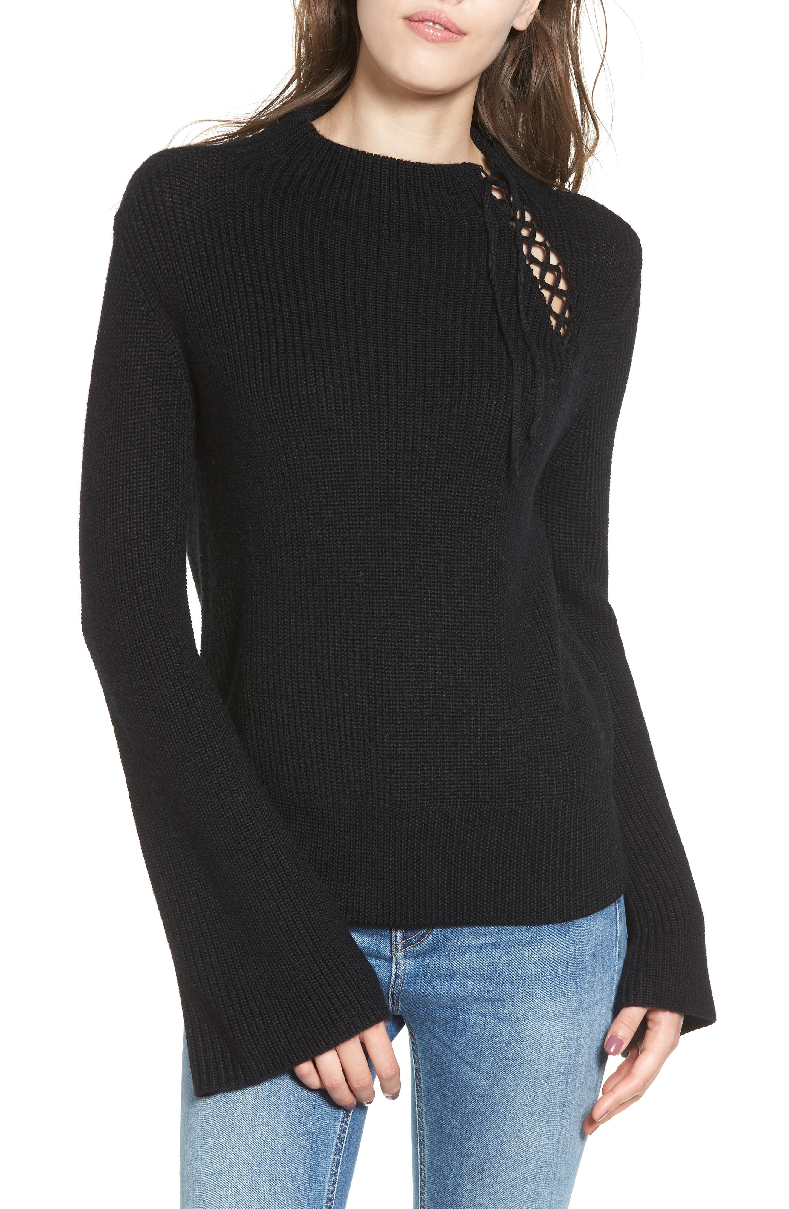 Gracey Mock Neck Sweater,                         Main,                         color, 001