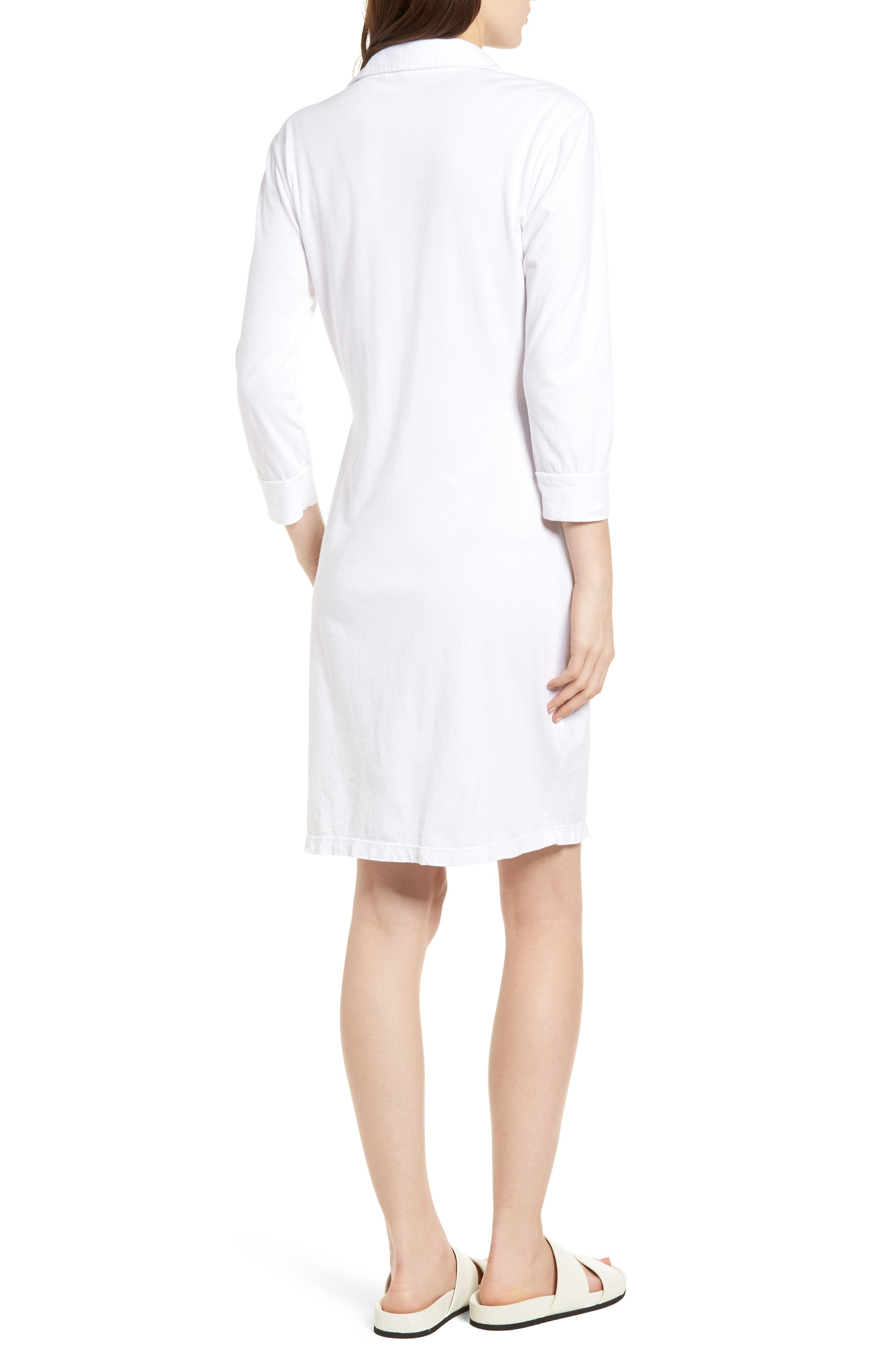 Twist Waist Brushed Jersey Dress,                             Alternate thumbnail 3, color,