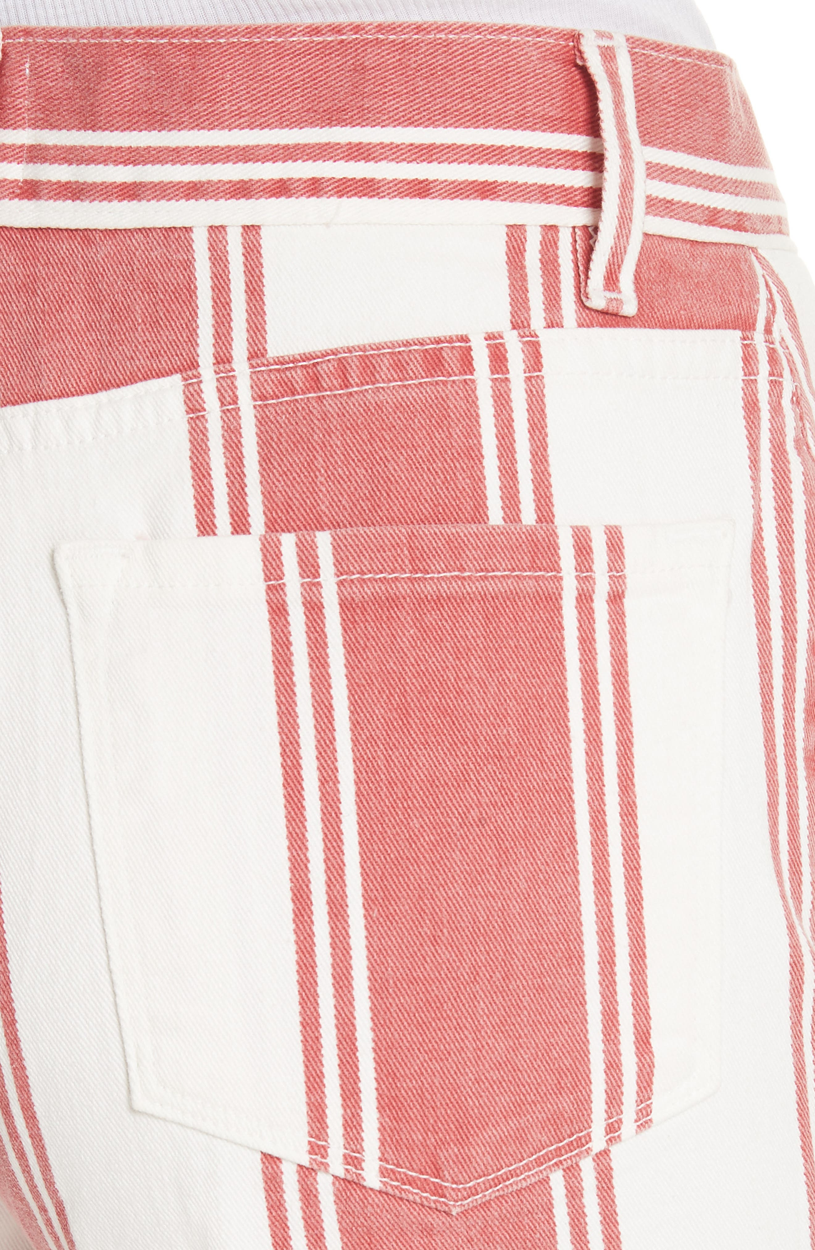 Vintage Stripe Crop Jeans,                             Alternate thumbnail 4, color,                             FIERY STRIPE