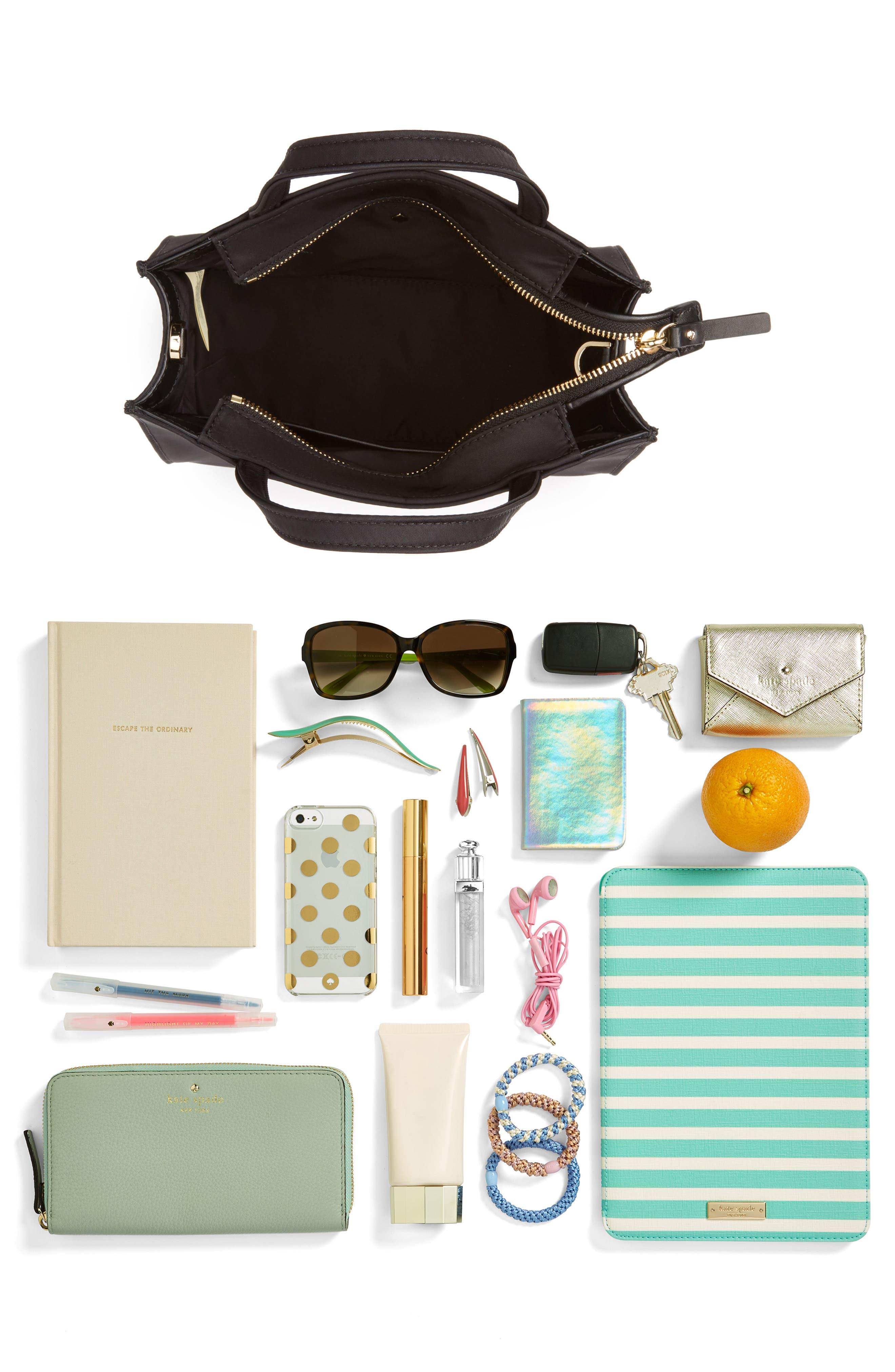 watson lane – sam nylon satchel,                             Alternate thumbnail 7, color,                             BLACK
