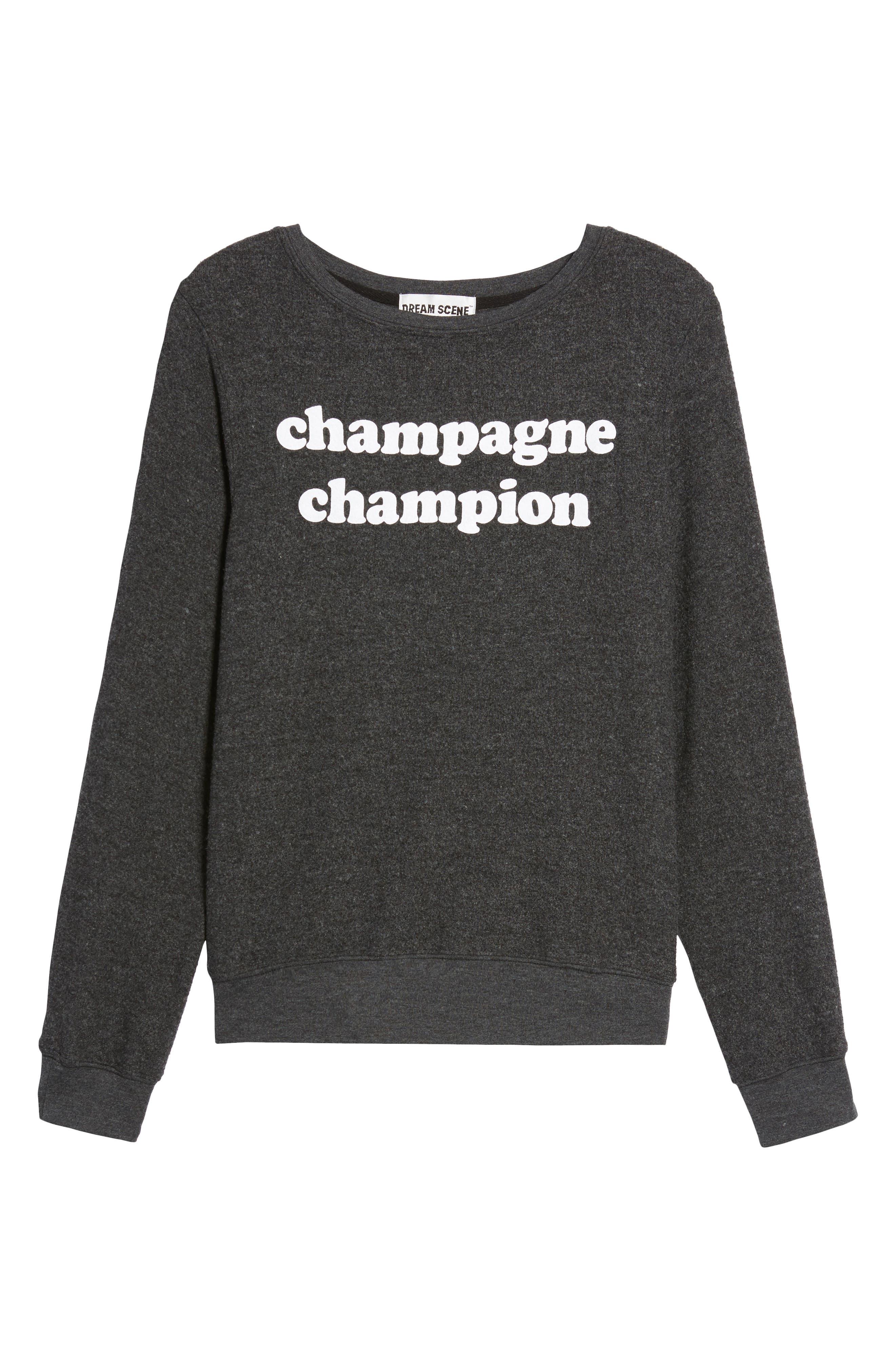 Champagne Champion Sweatshirt,                             Alternate thumbnail 6, color,                             001