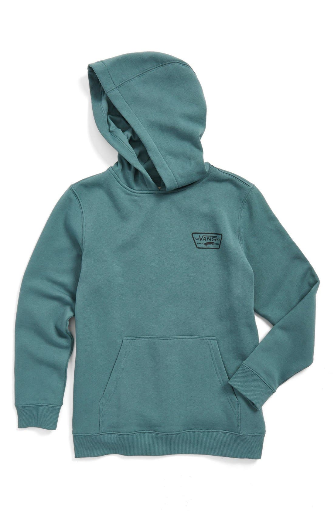 'Full Patched' Fleece Hoodie,                             Main thumbnail 4, color,