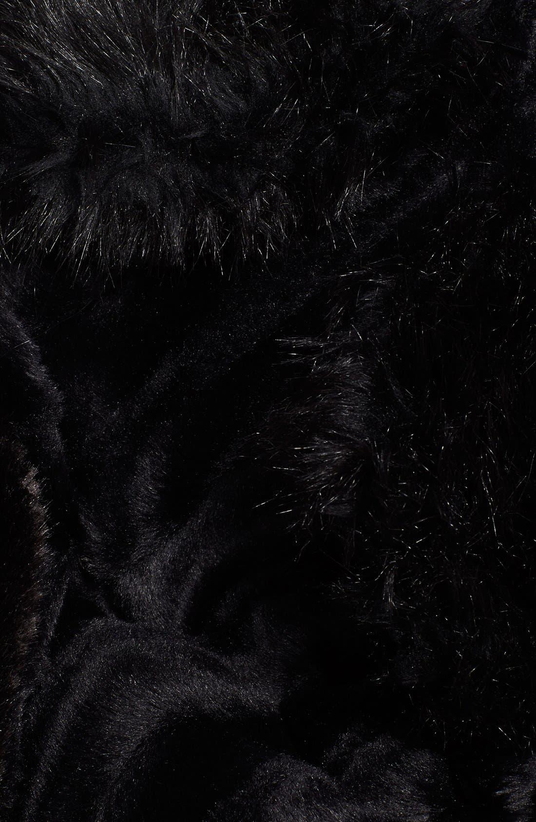 Faux Fur Cape,                             Alternate thumbnail 2, color,                             001