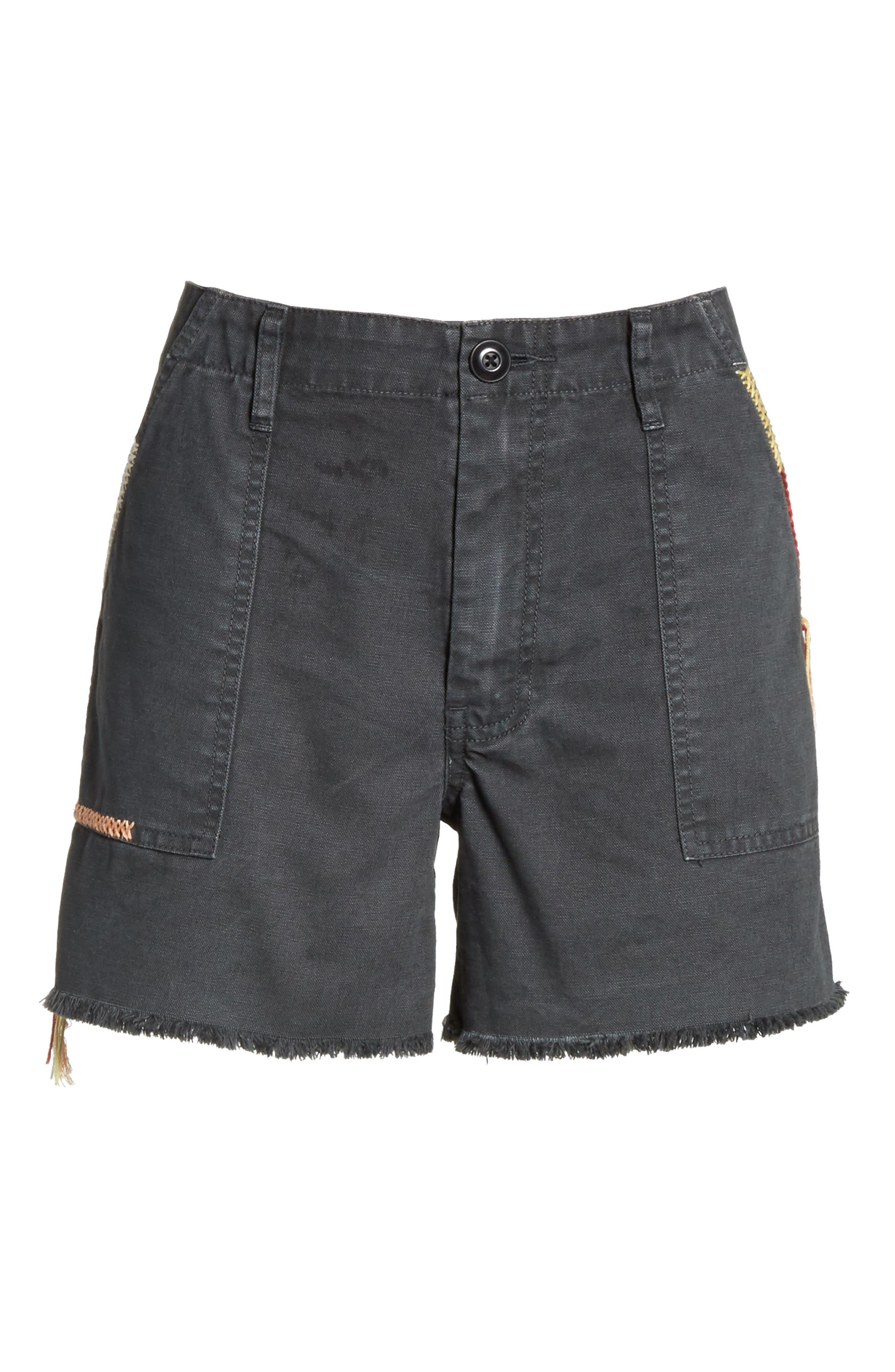 The Desert Embroidered Shorts,                             Alternate thumbnail 6, color,                             001