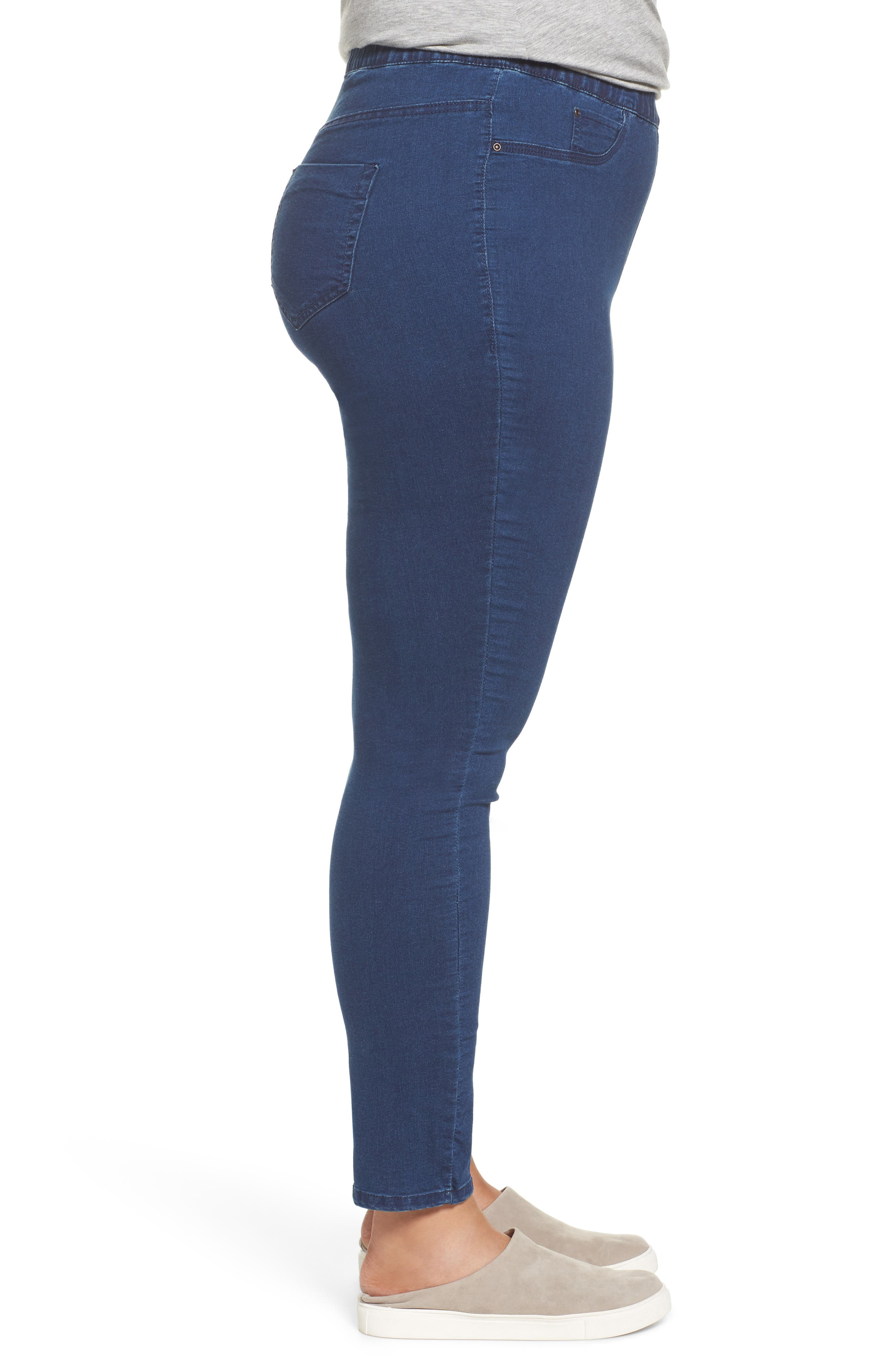 Denim Leggings,                             Alternate thumbnail 3, color,