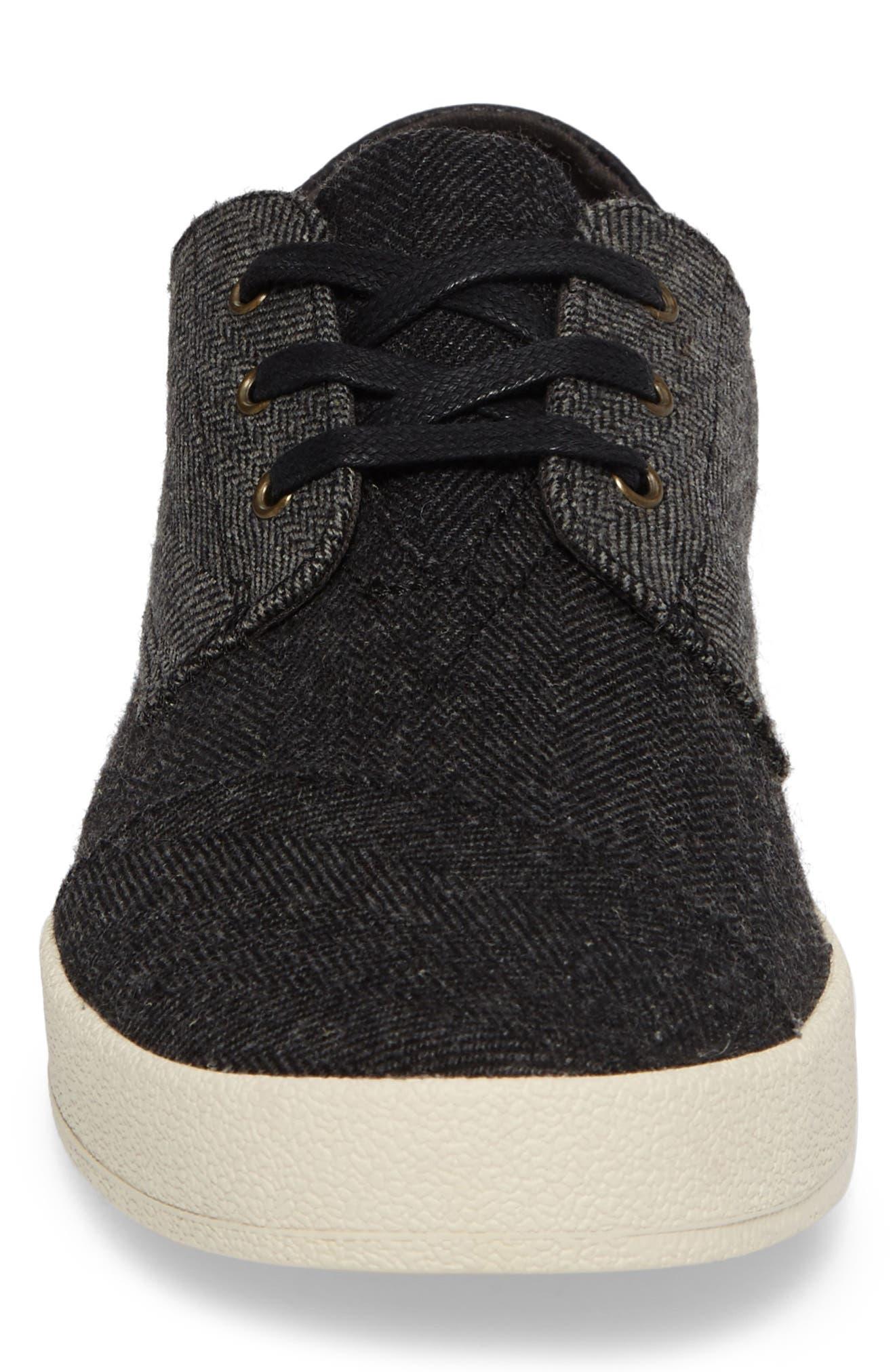 'Paseo' Sneaker,                             Alternate thumbnail 4, color,                             BLACK/ GREY